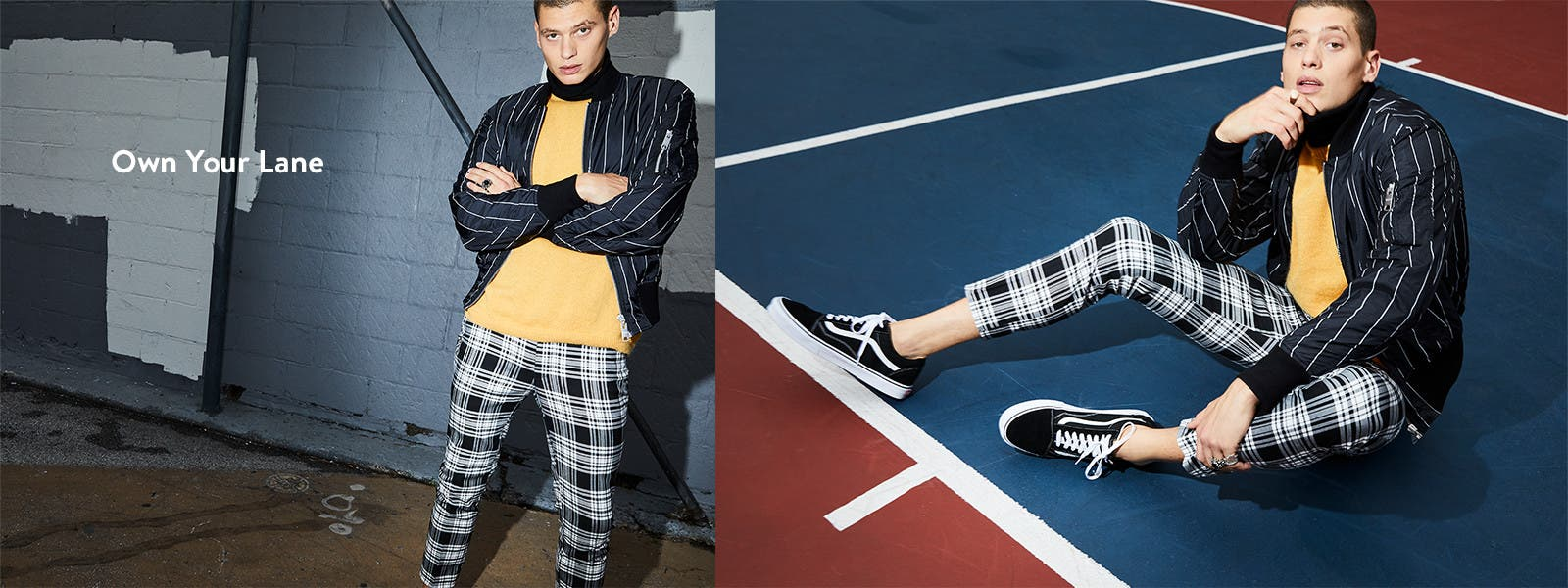 Own your lane, trend-right clothes for men.