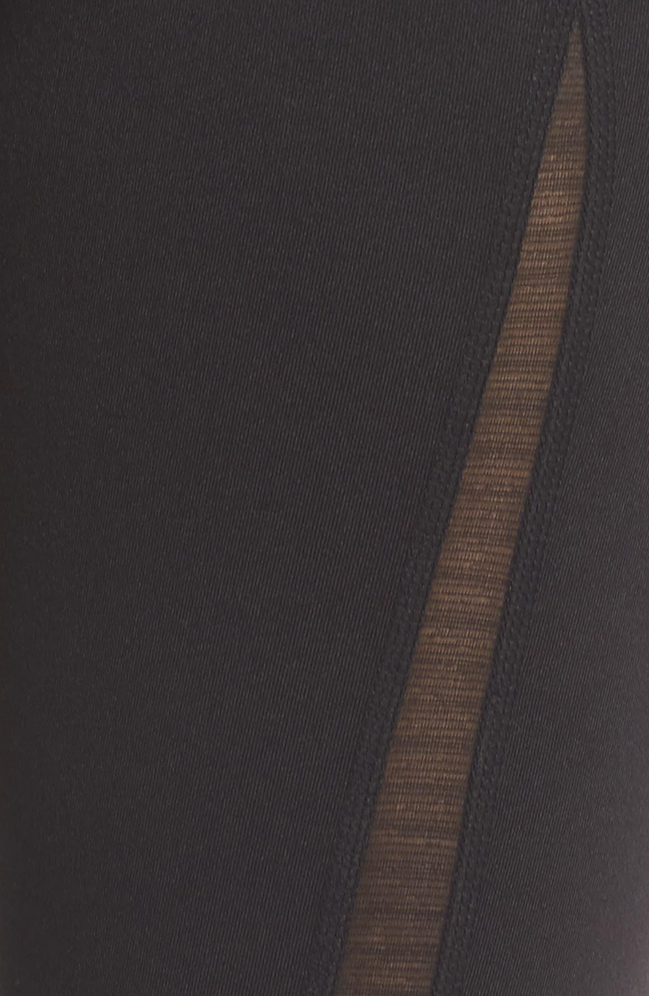 Reinvent Recycled High Waist Leggings,                             Alternate thumbnail 6, color,                             BLACK
