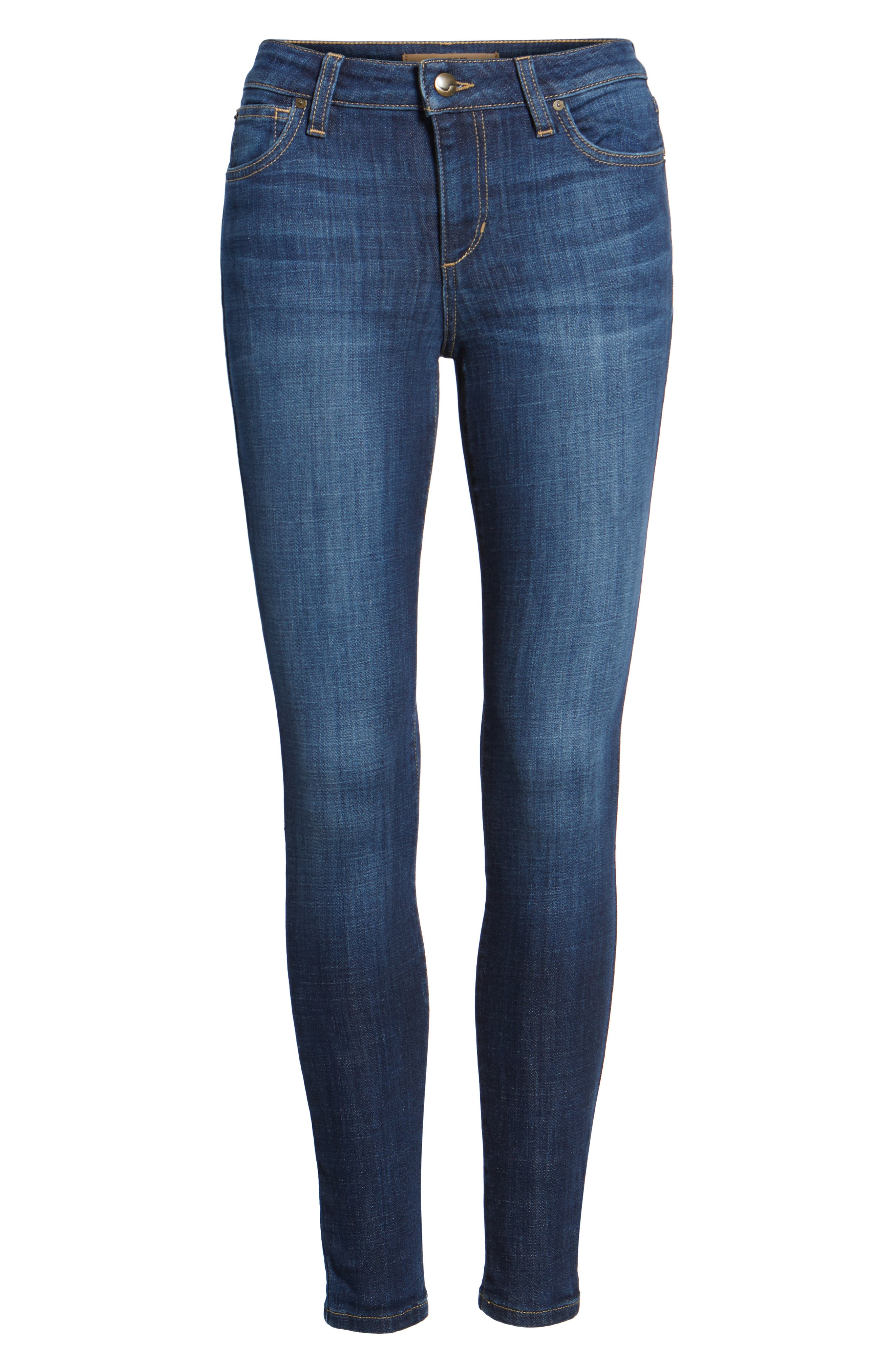 Flawless - Icon Skinny Ankle Jeans,                             Alternate thumbnail 6, color,                             400