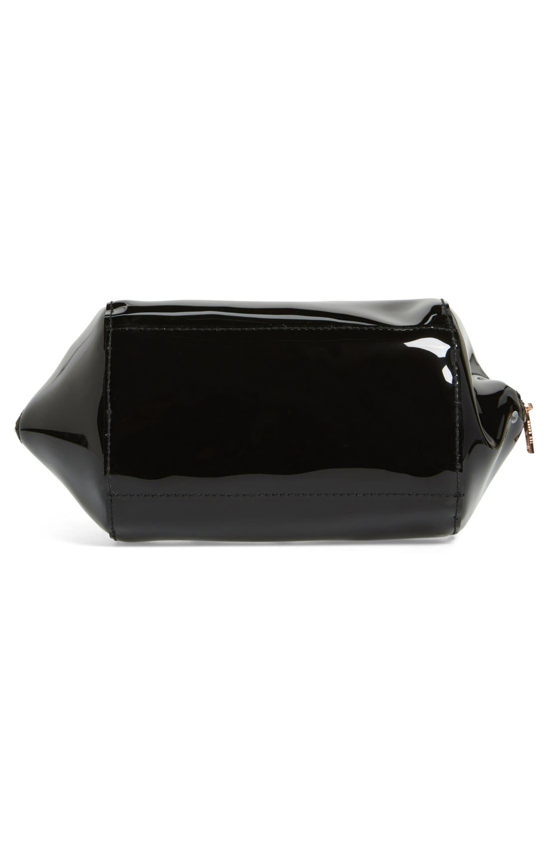 'Rochel - Extra Large Bow' Cosmetics Case,                             Alternate thumbnail 4, color,                             001