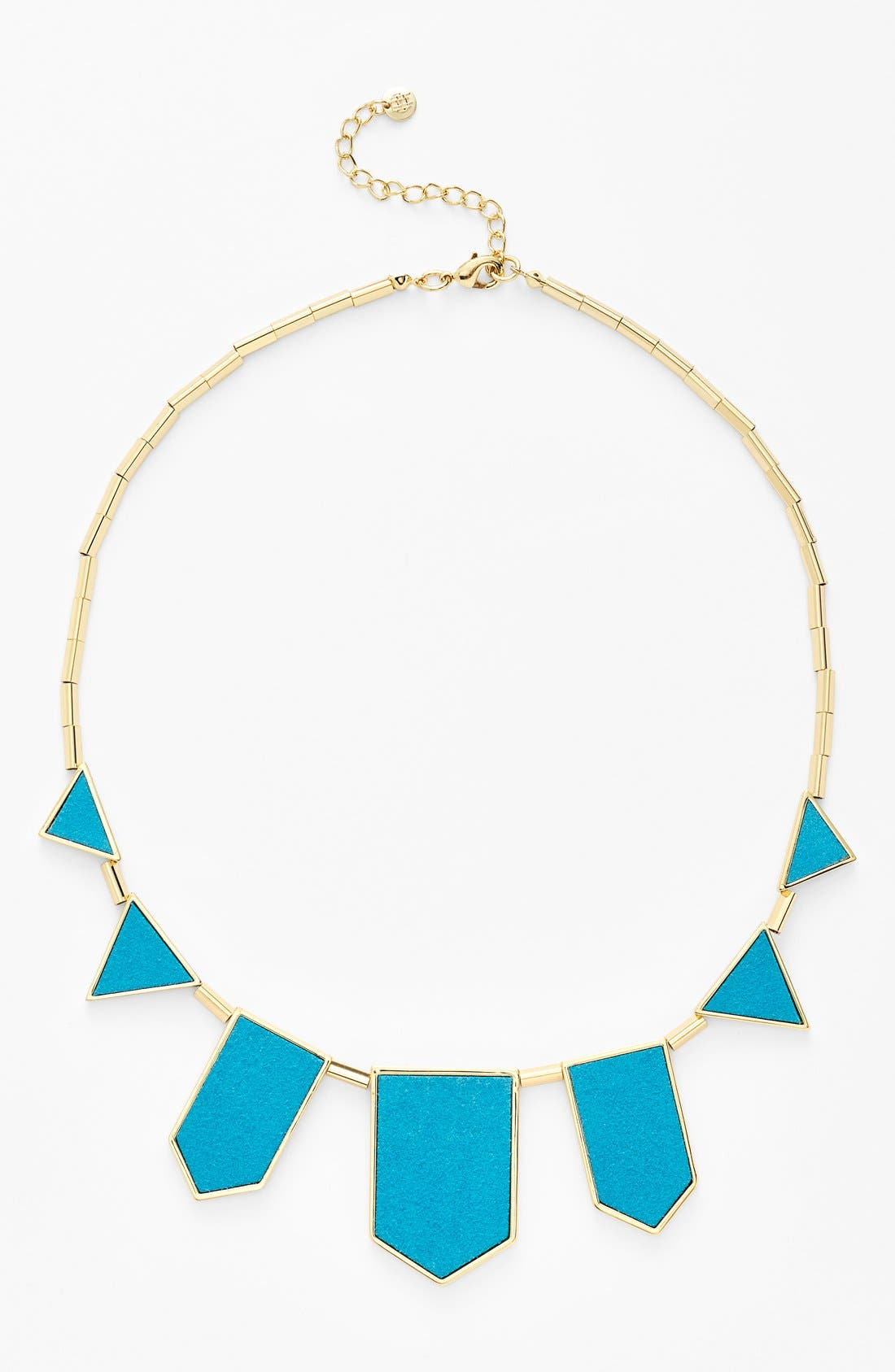 Leather Station Necklace,                             Main thumbnail 10, color,