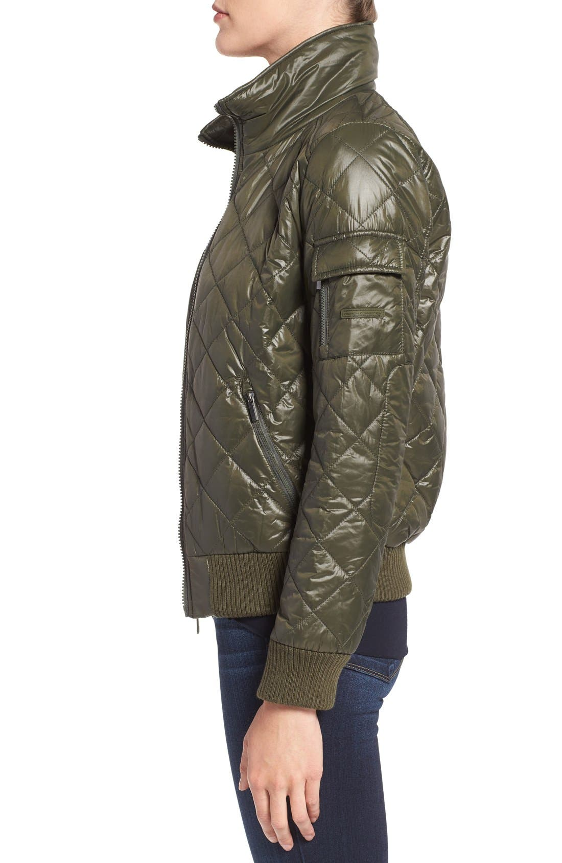 Quilted Bomber Jacket,                             Alternate thumbnail 14, color,
