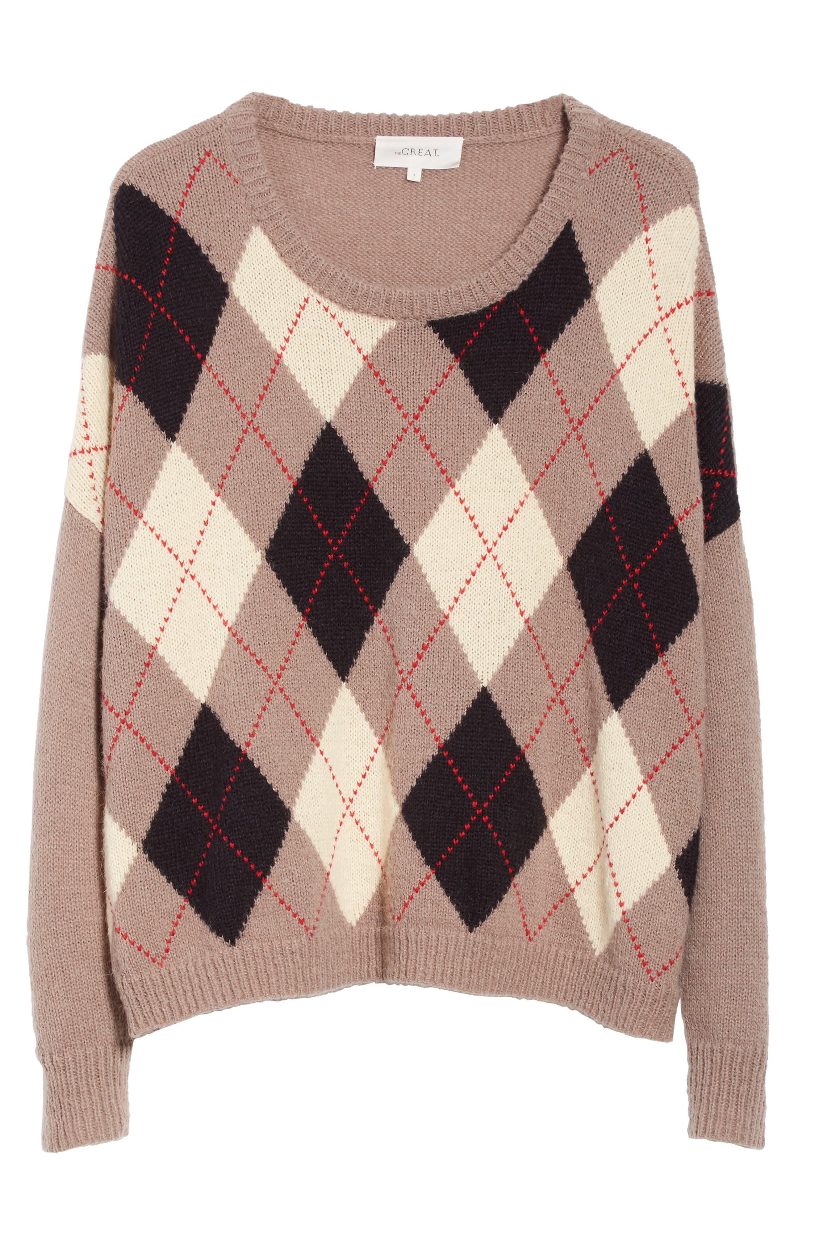 The Argyle Crew Sweater,                             Alternate thumbnail 6, color,                             235