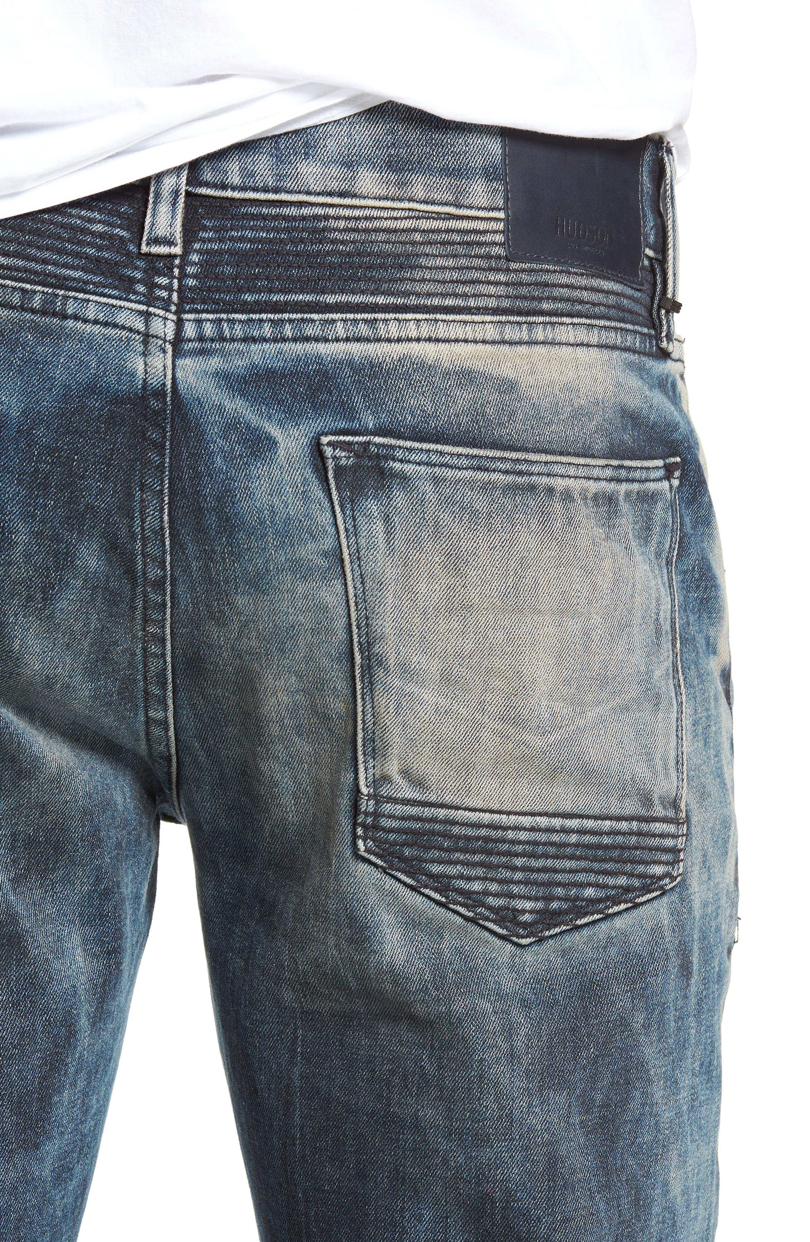 Blinder Biker Skinny Fit Jeans,                             Alternate thumbnail 4, color,                             MARTINO