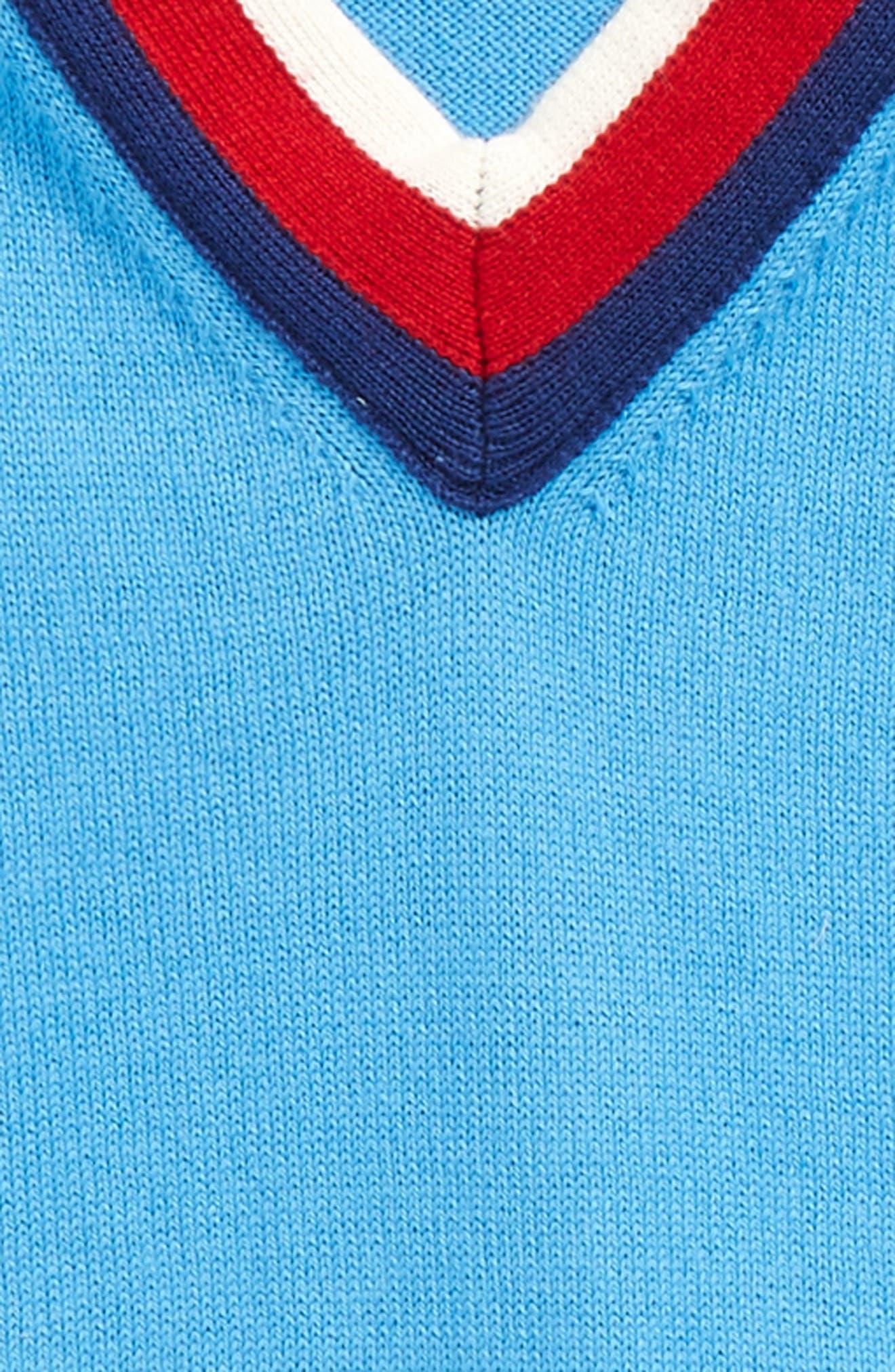 V-Neck Sweater,                             Alternate thumbnail 2, color,                             ROYAL/ IVORY