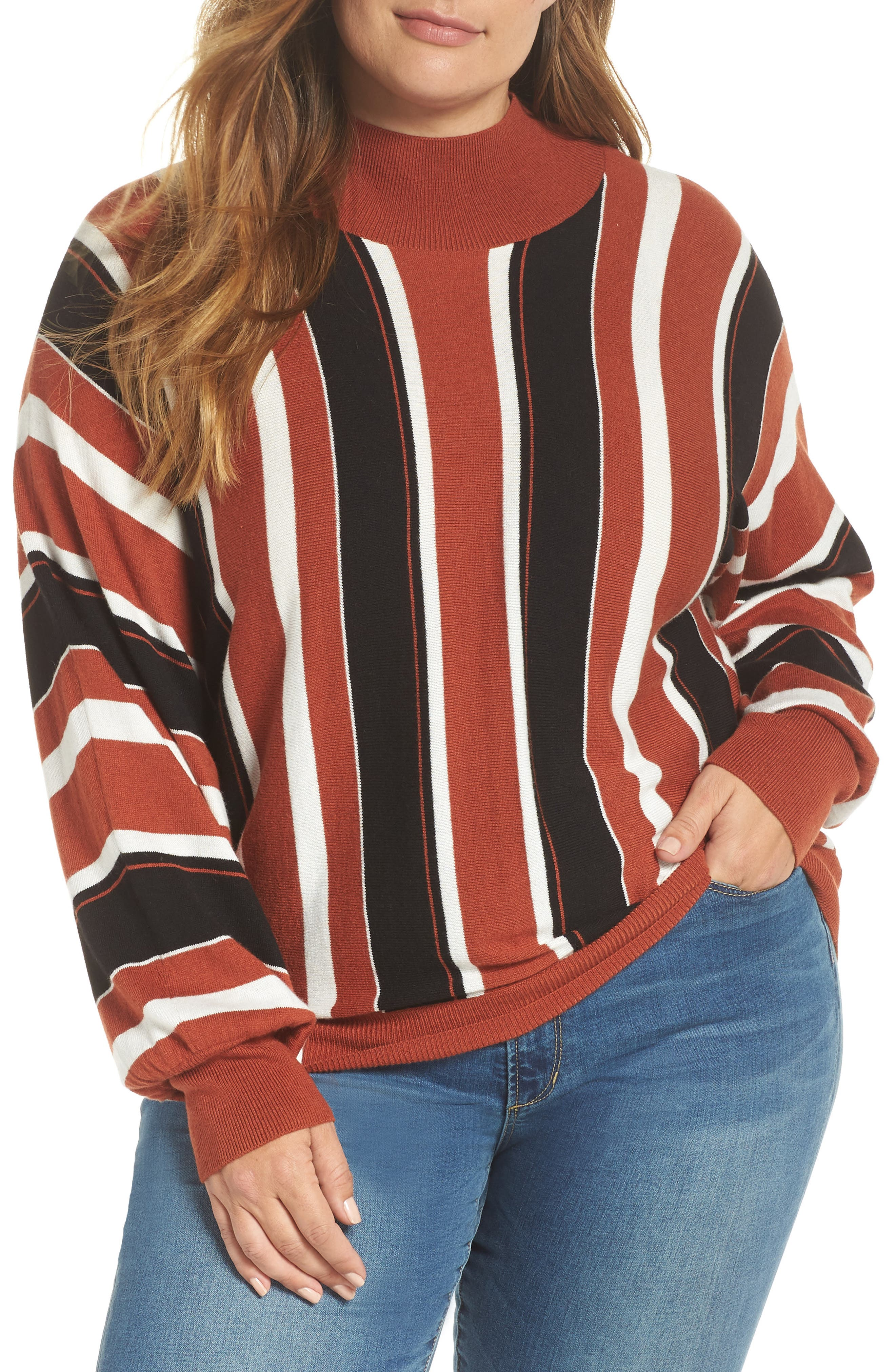 Stripe Dolman Sleeve Sweater,                             Alternate thumbnail 2, color,                             210