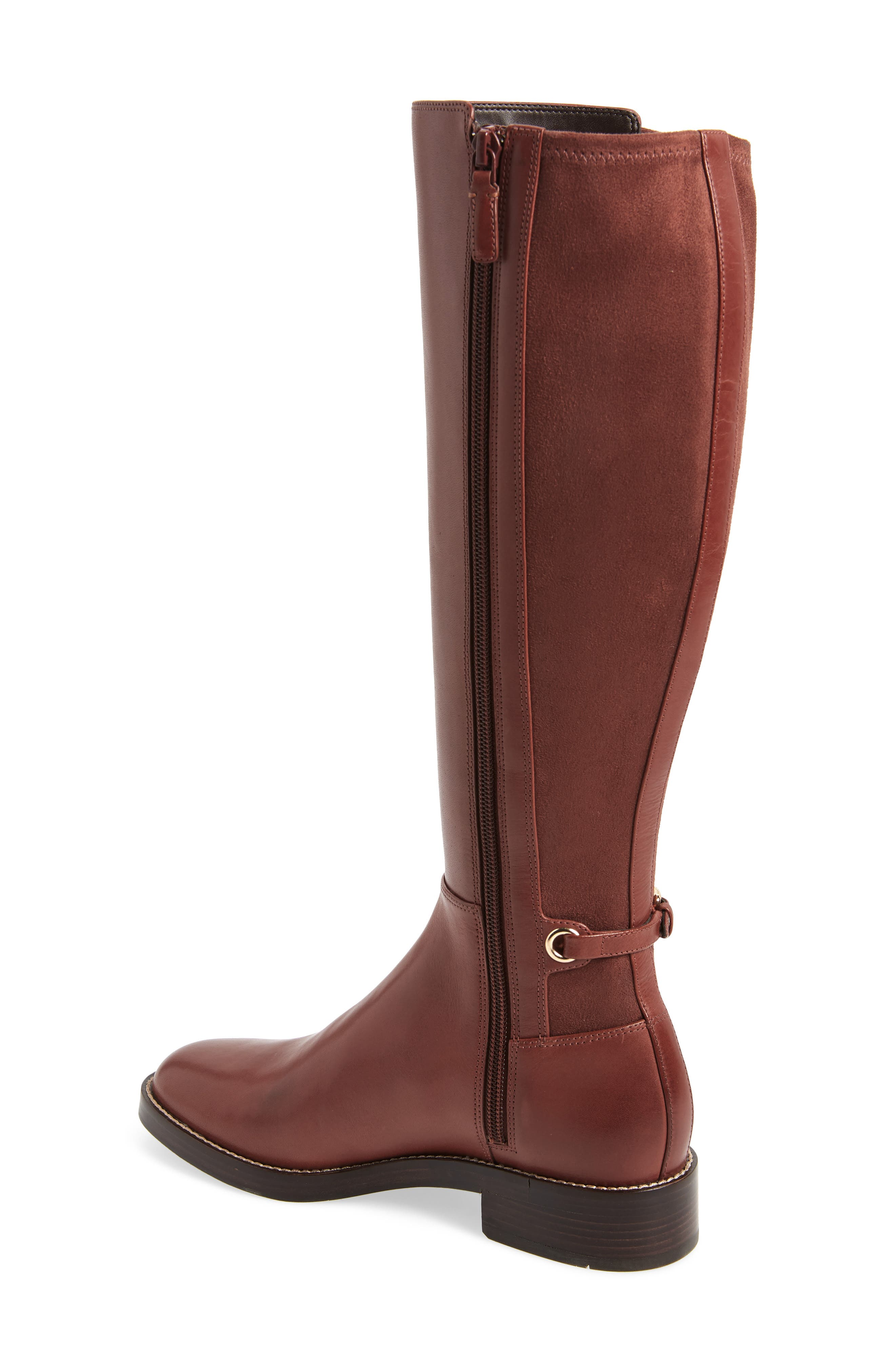 Parker Grand Stretch Knee High Boot,                             Alternate thumbnail 2, color,                             CHERRY MAHOGANY LEATHER