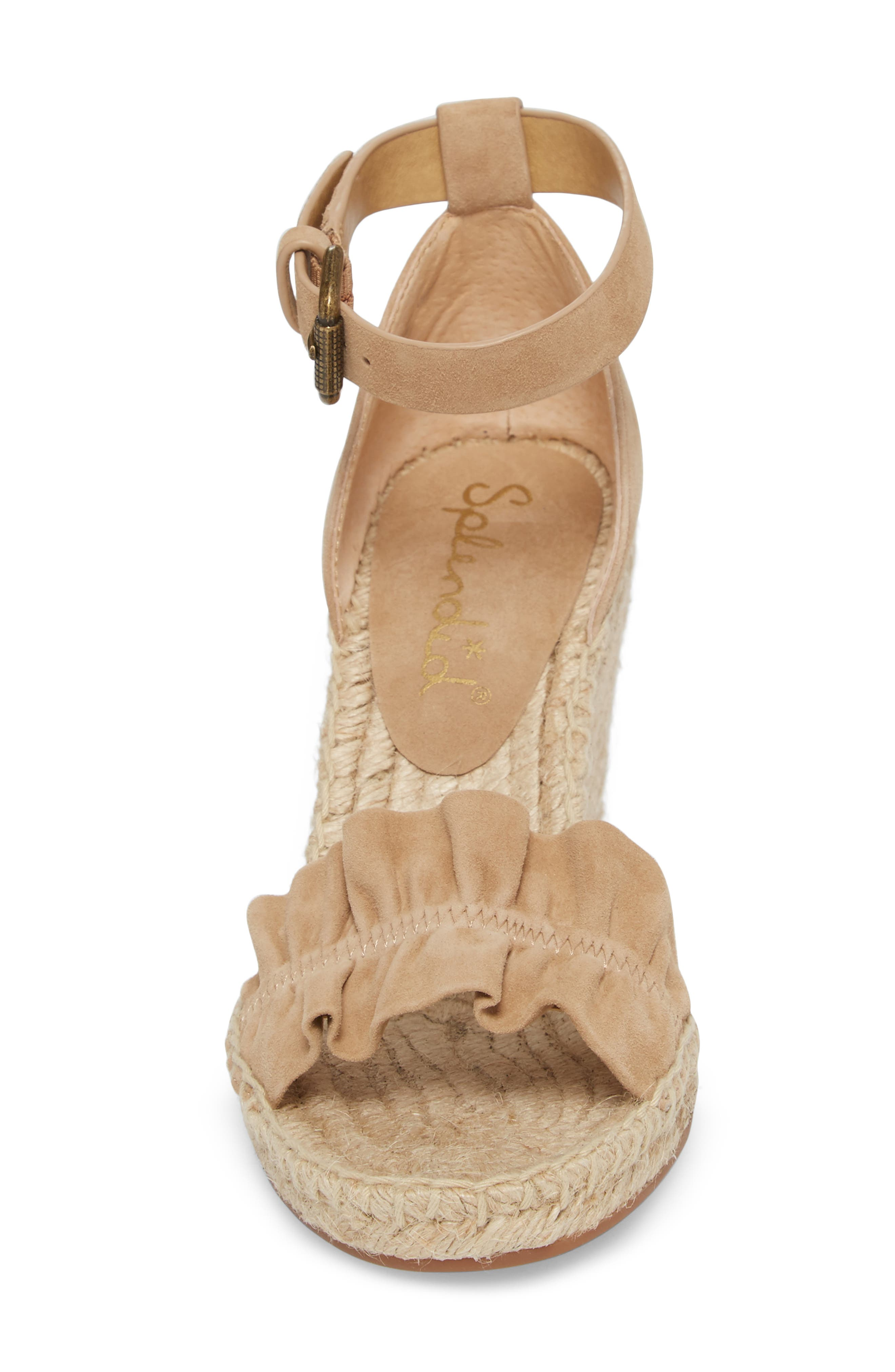 Bedford Espadrille Wedge Sandal,                             Alternate thumbnail 4, color,                             021