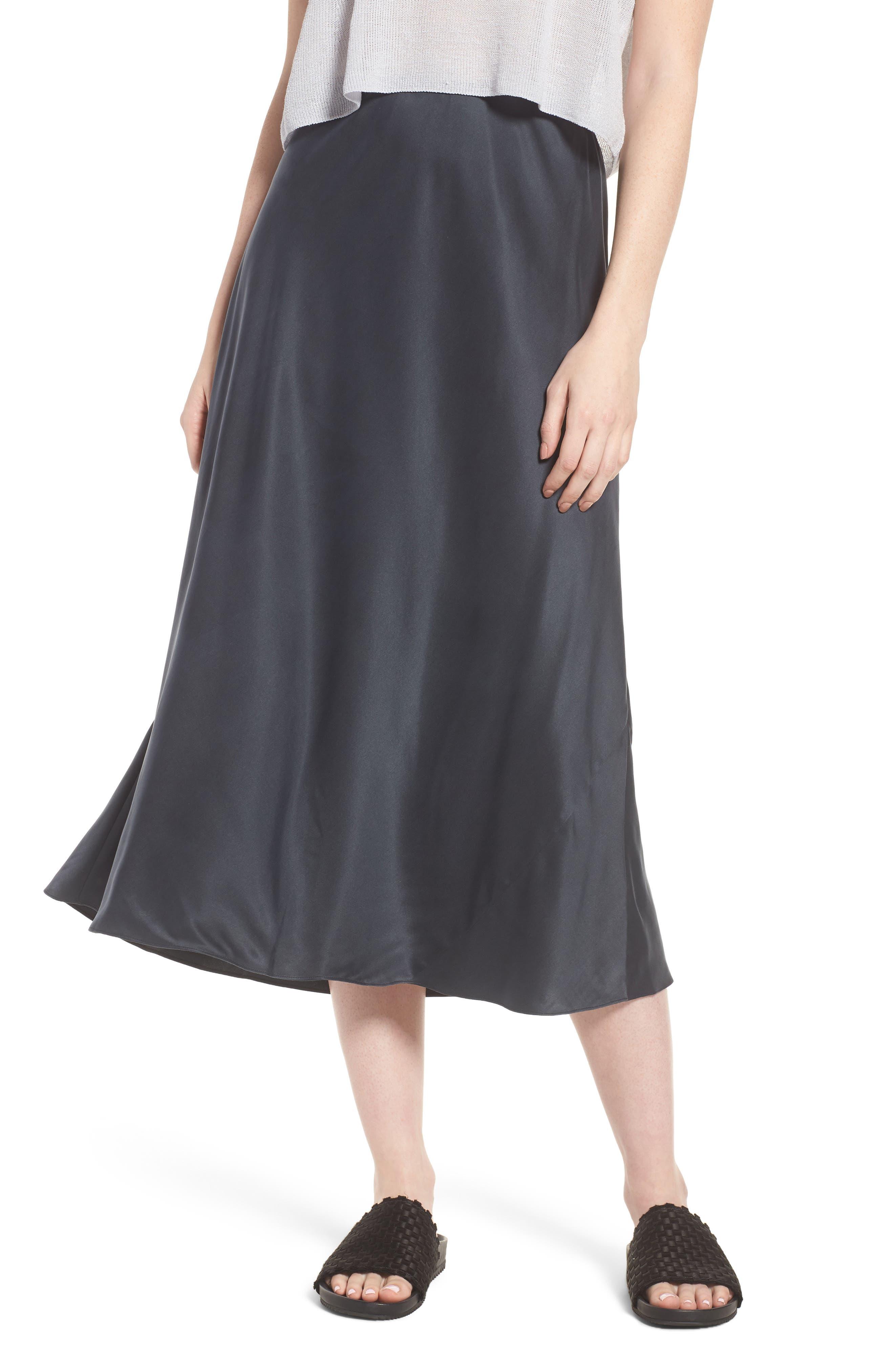 Bias Cut Silk Skirt,                         Main,                         color, 025