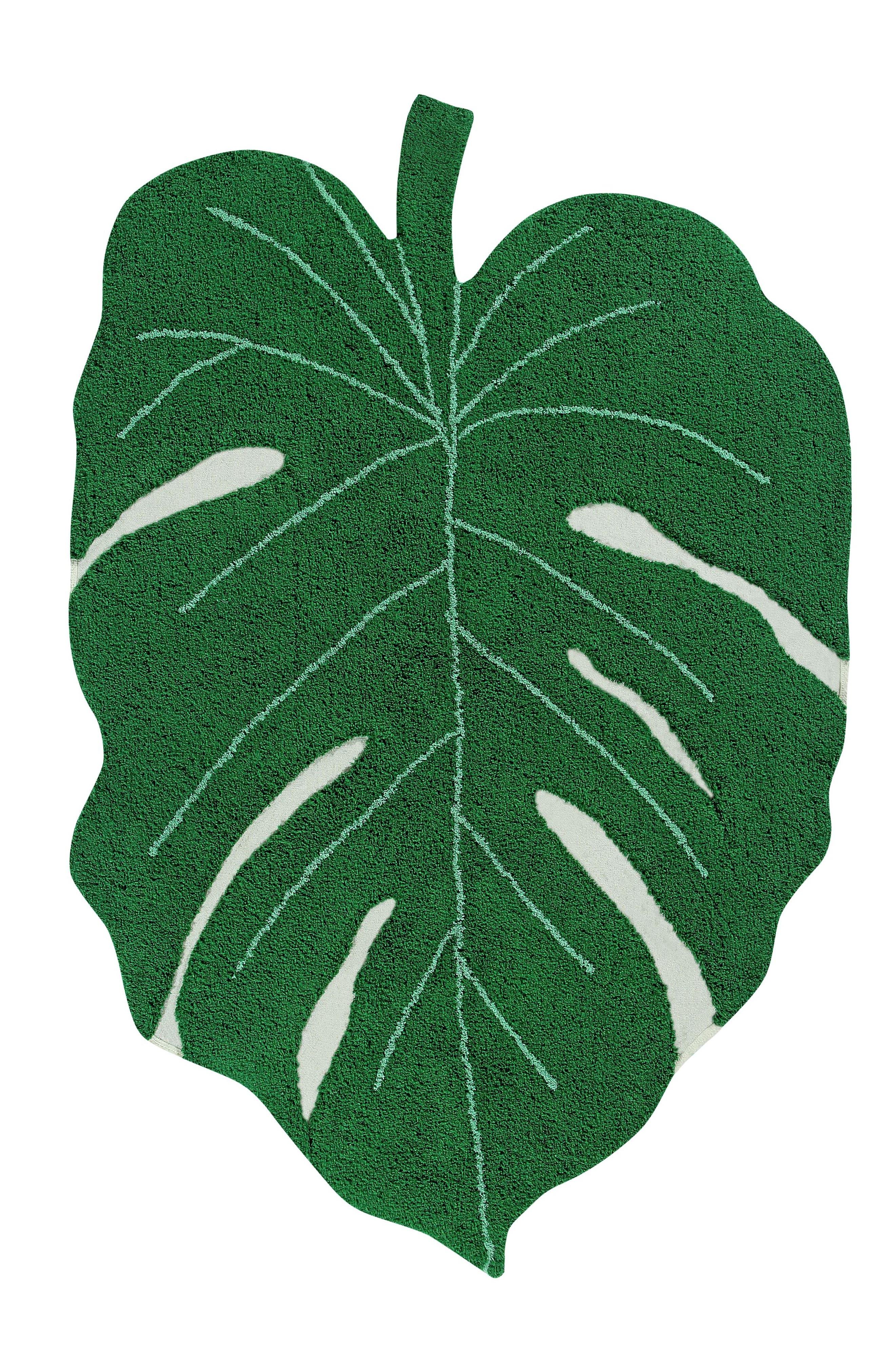 Monstera Leaf Rug,                             Main thumbnail 1, color,                             MONSTERA LEAF