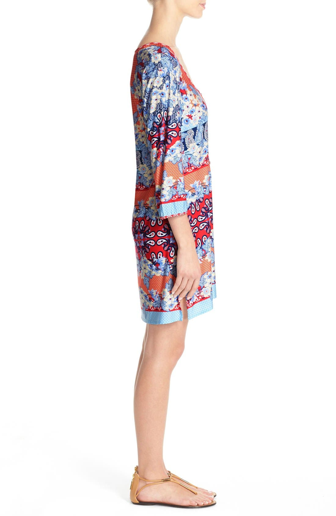 Stretch Modal Cover-Up Dress,                             Alternate thumbnail 2, color,                             080