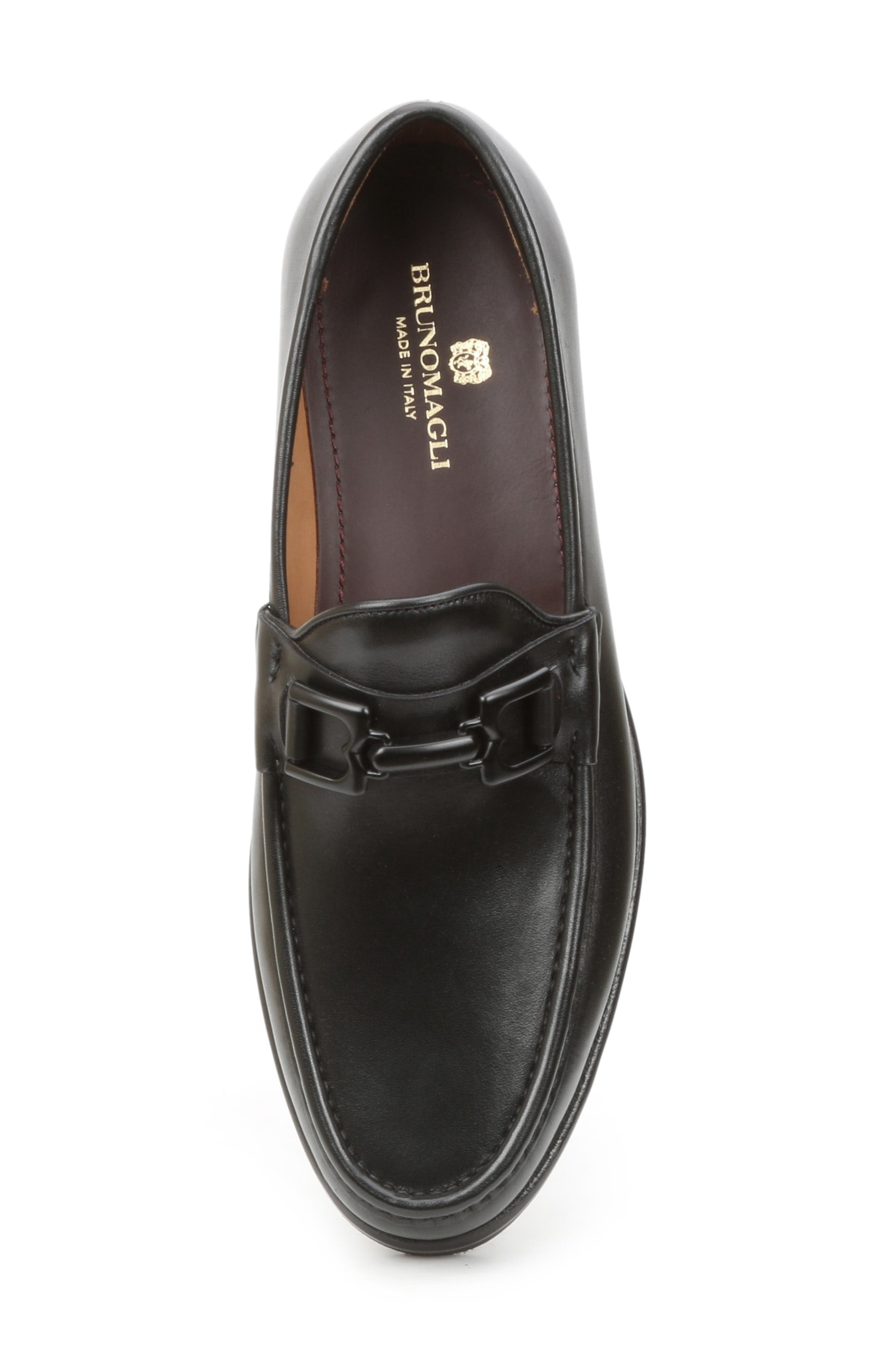 Falcone Lugged Bit Loafer,                             Alternate thumbnail 5, color,                             BLACK