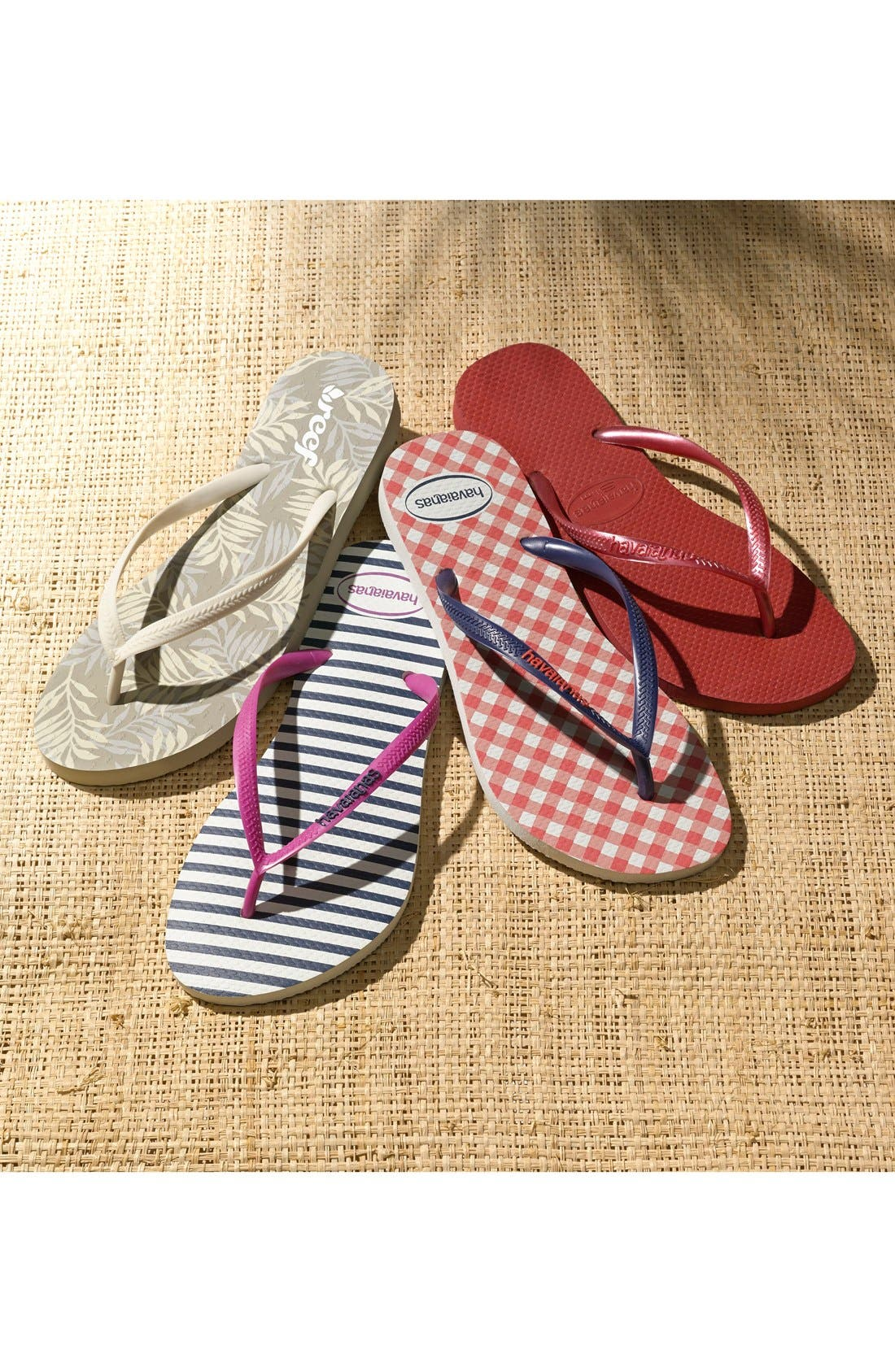 'Slim' Flip Flop,                             Alternate thumbnail 7, color,                             STEEL GREY