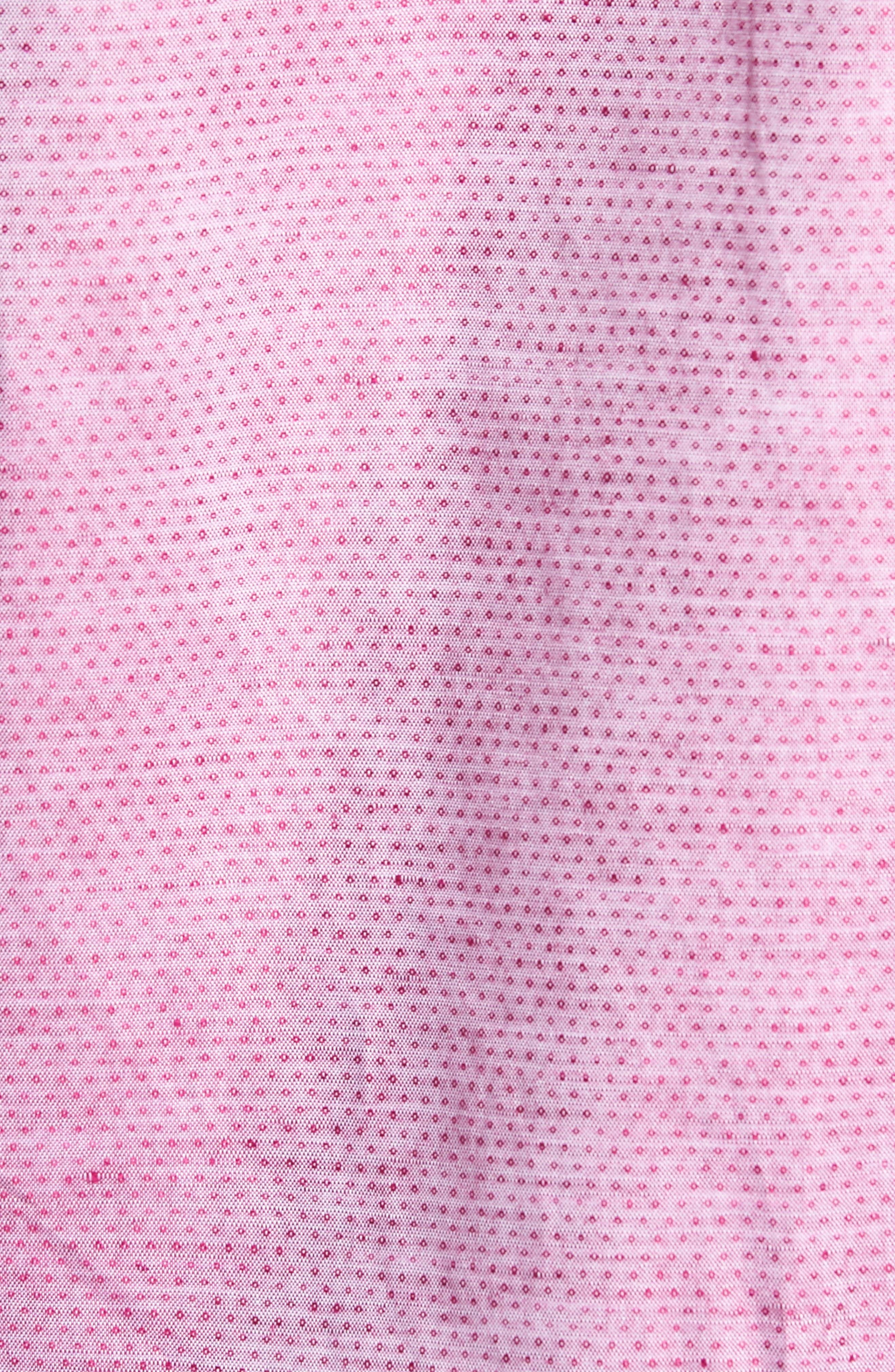 Wilcox Regular Fit Dobby Sport Shirt,                             Alternate thumbnail 5, color,