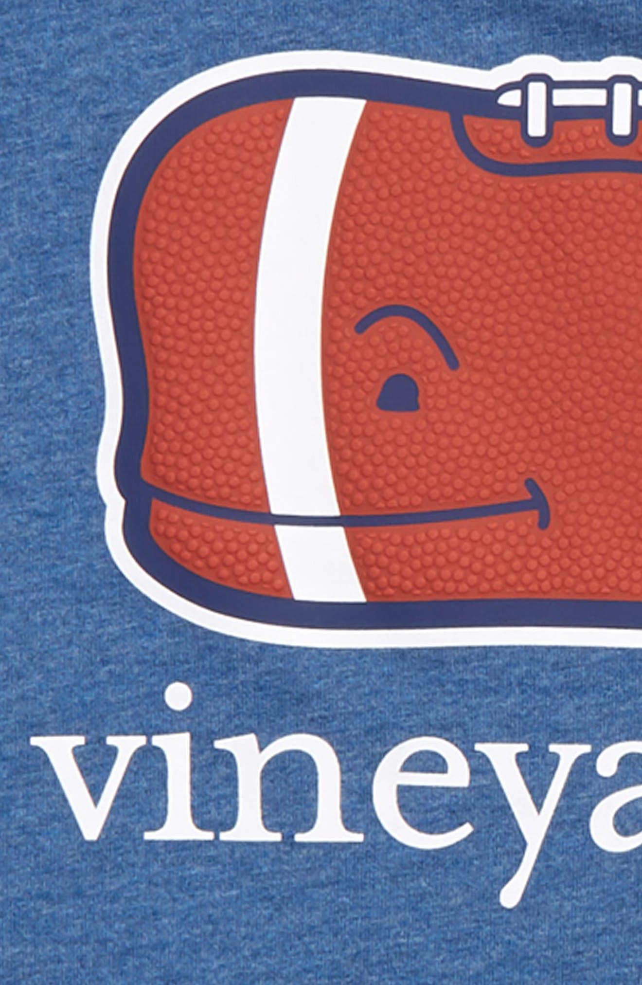 Heathered Football Whale Pocket T-Shirt,                             Alternate thumbnail 3, color,                             461