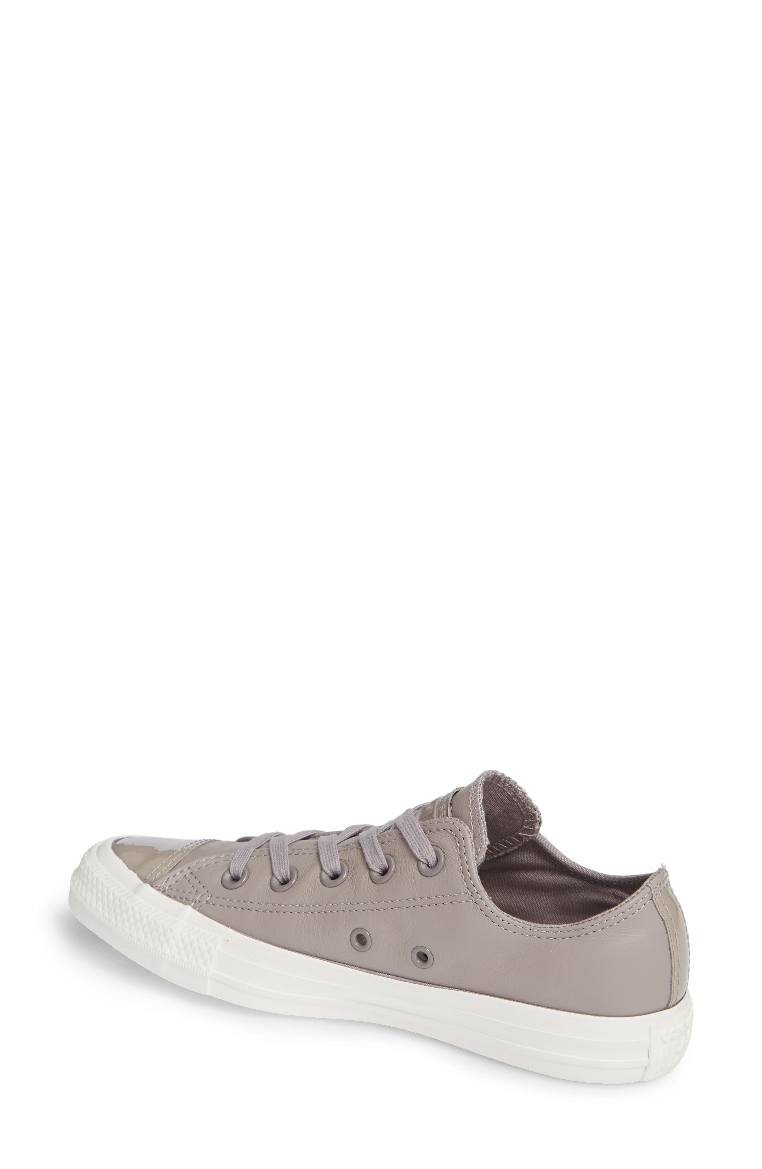 CONVERSE,                             All Star<sup>®</sup> Leather Patent Low Top Sneaker,                             Alternate thumbnail 2, color,                             020