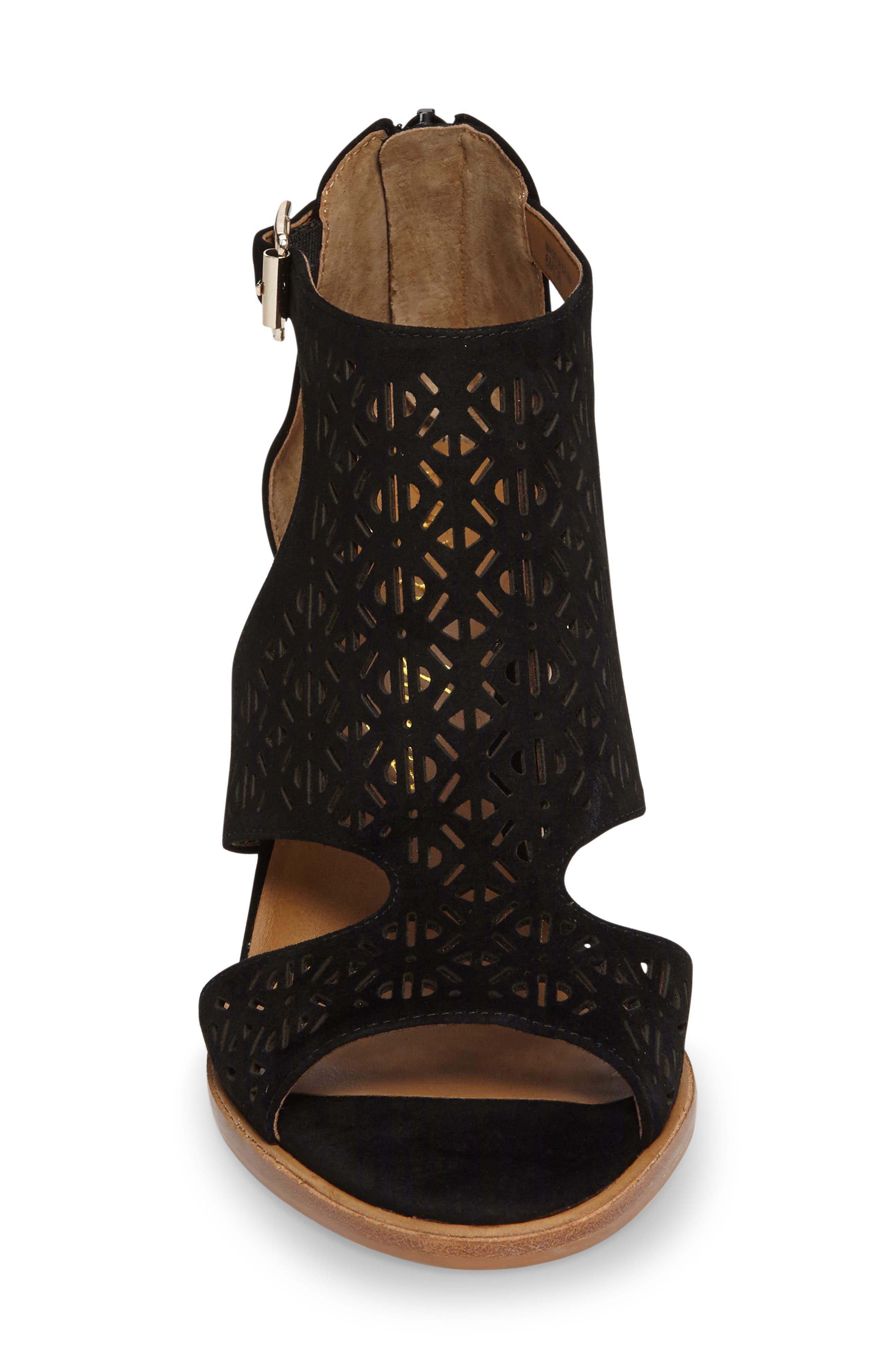 Edythe Block Heel Sandal,                             Alternate thumbnail 3, color,                             001