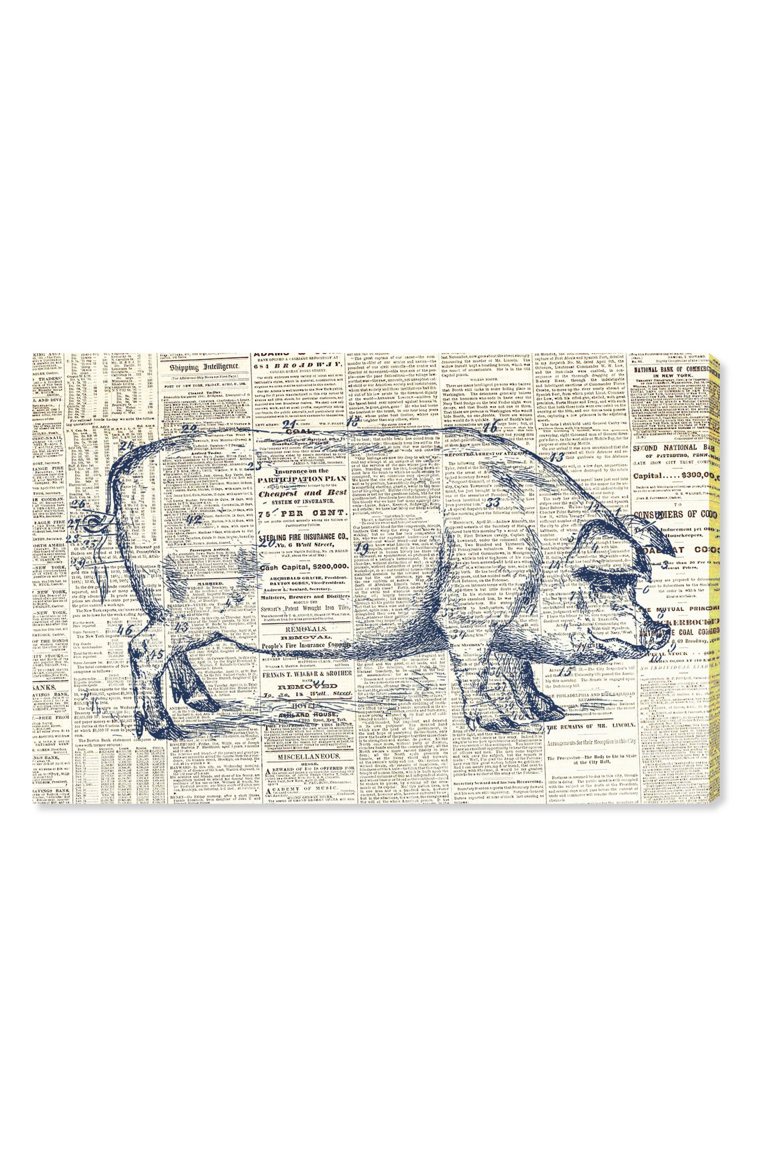 Pig Farmhouse Canvas Wall Art,                         Main,                         color,