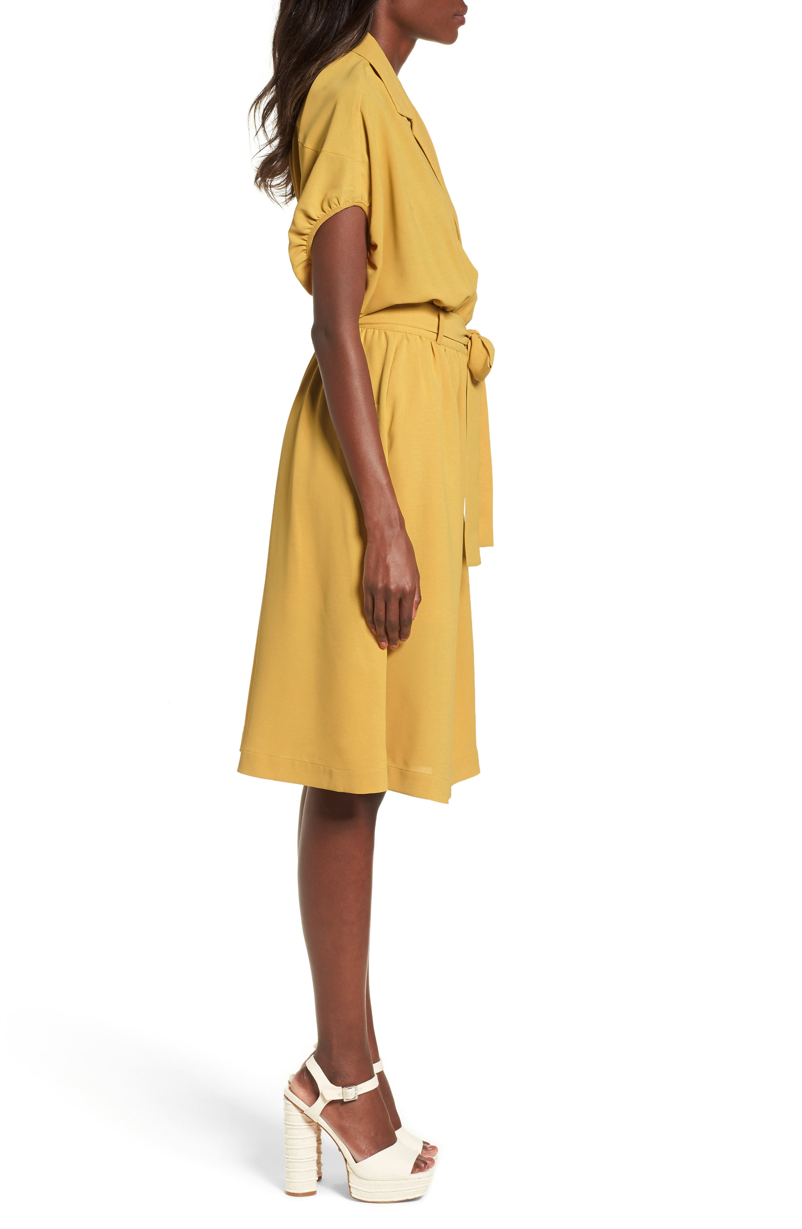 Chriselle x J.O.A. Cocoon Sleeve Dress,                             Alternate thumbnail 3, color,                             700