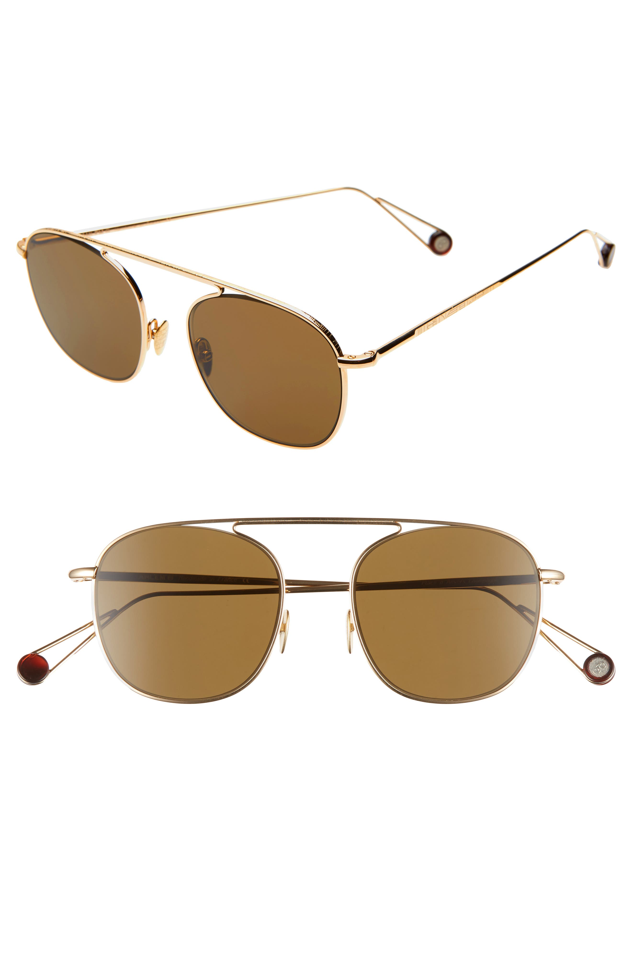 AHLEM D'Anvers 49Mm Aviator Sunglasses in Yellow Gold