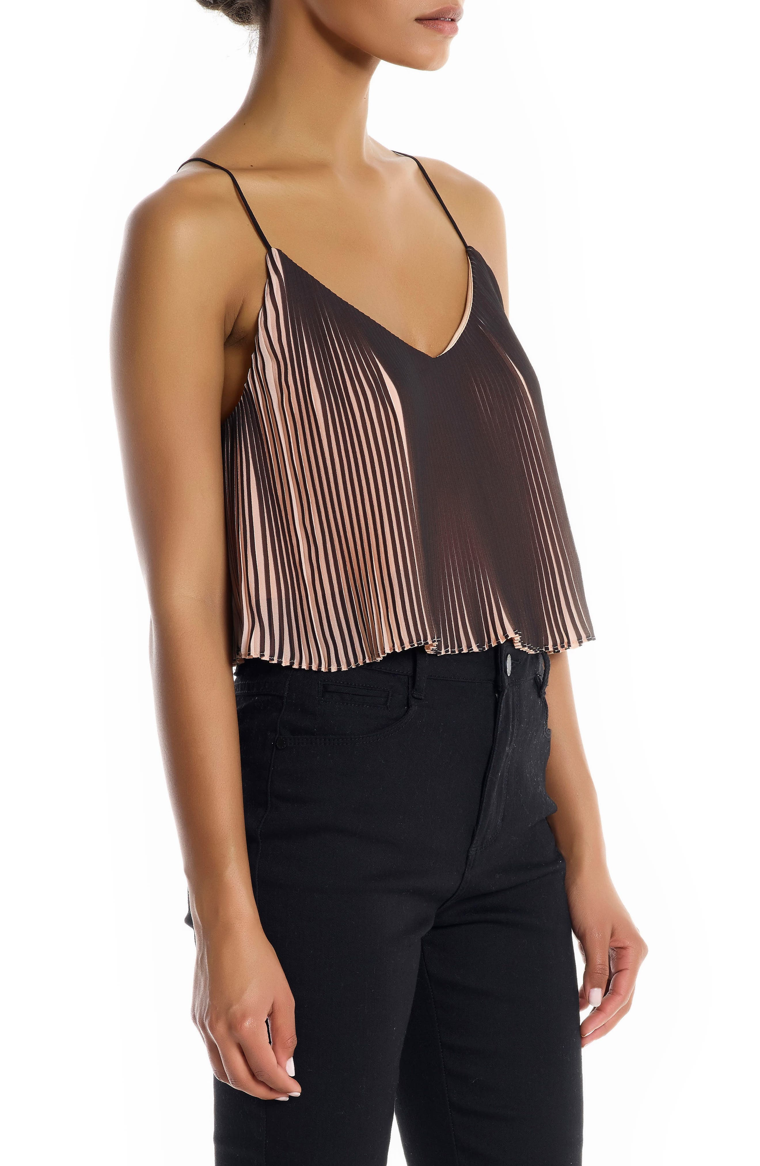 Pleated Crop Camisole,                             Alternate thumbnail 3, color,                             250
