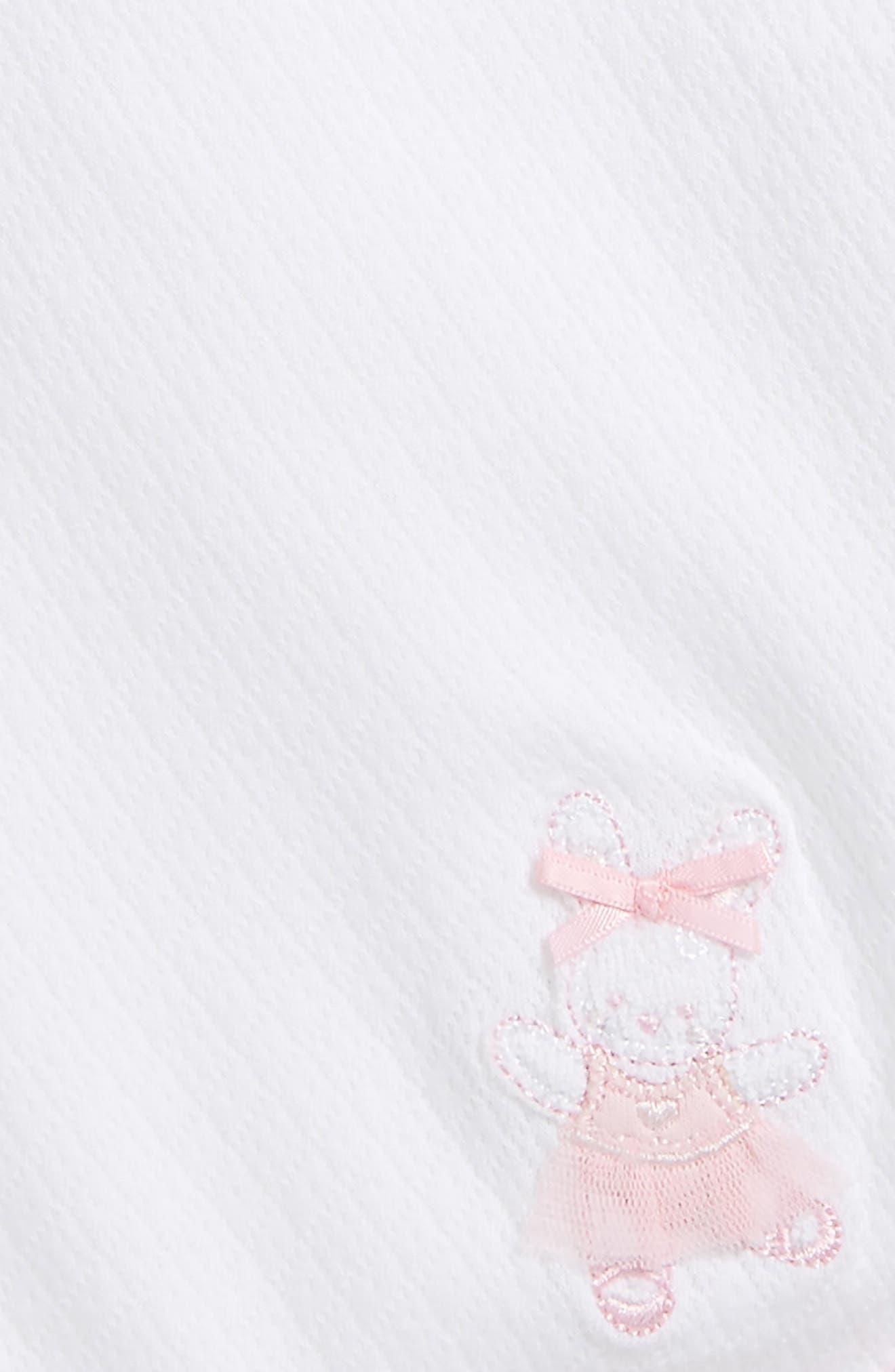 Ballet Bunny Receiving Blanket,                             Alternate thumbnail 2, color,                             WHITE