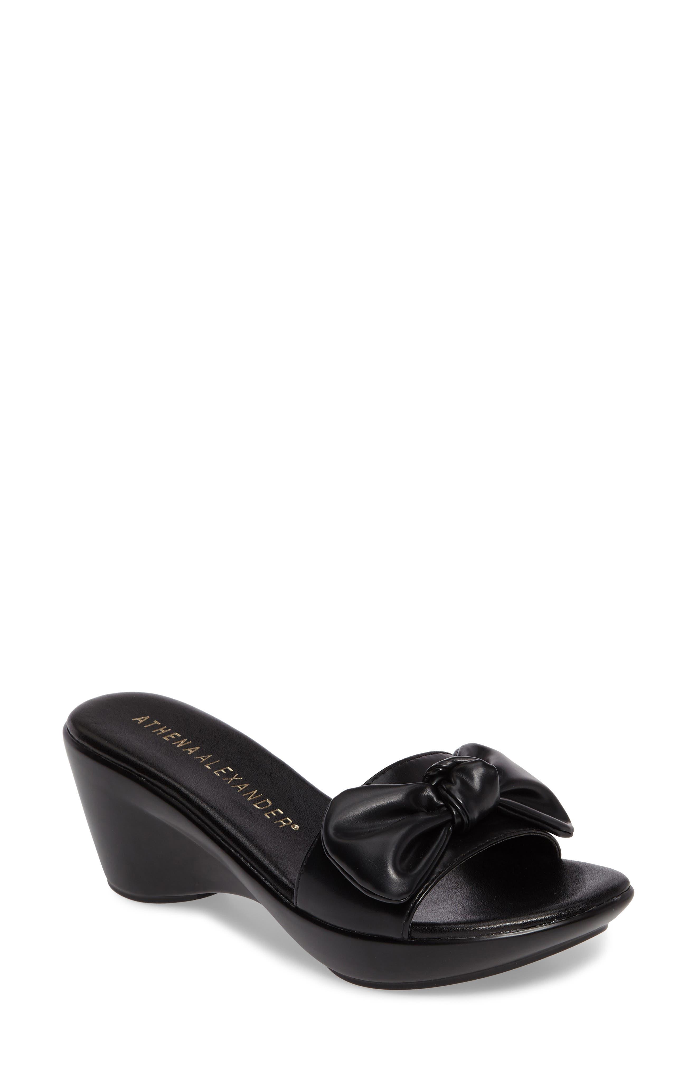 Pattye Knotted Slide Sandal,                         Main,                         color, 001
