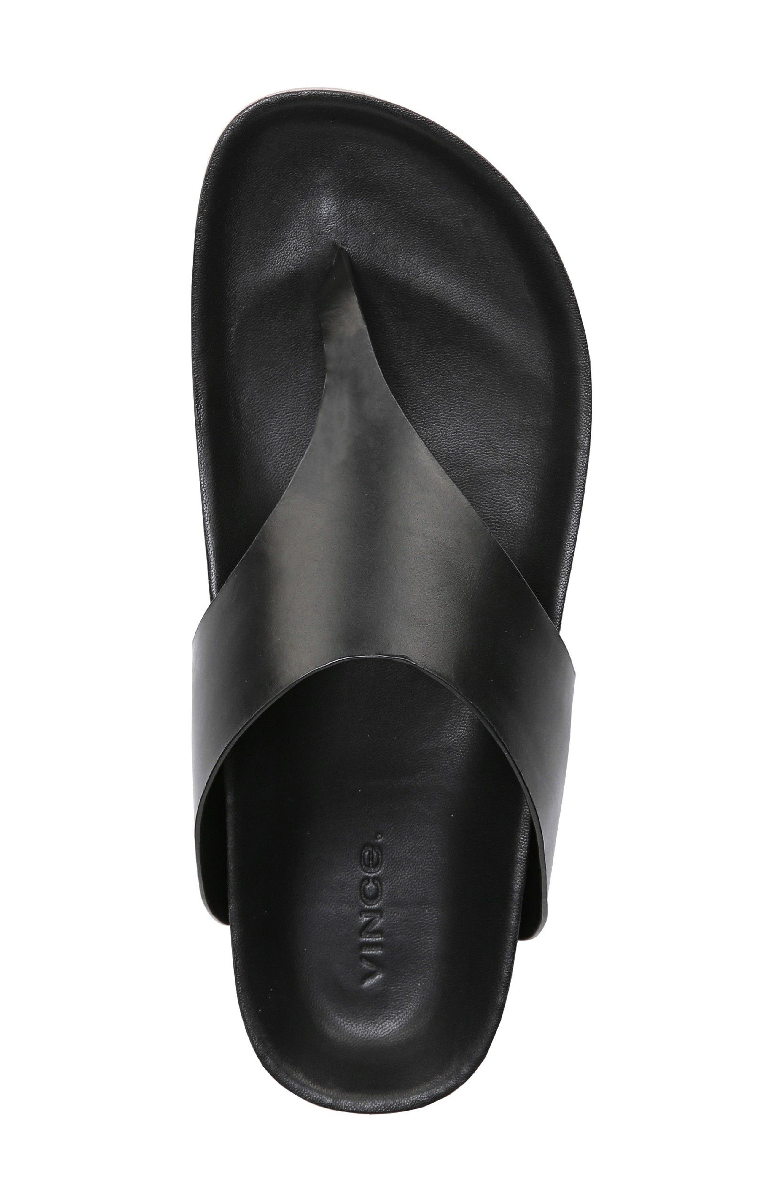 Padma Platform Sandal,                             Alternate thumbnail 4, color,                             BLACK