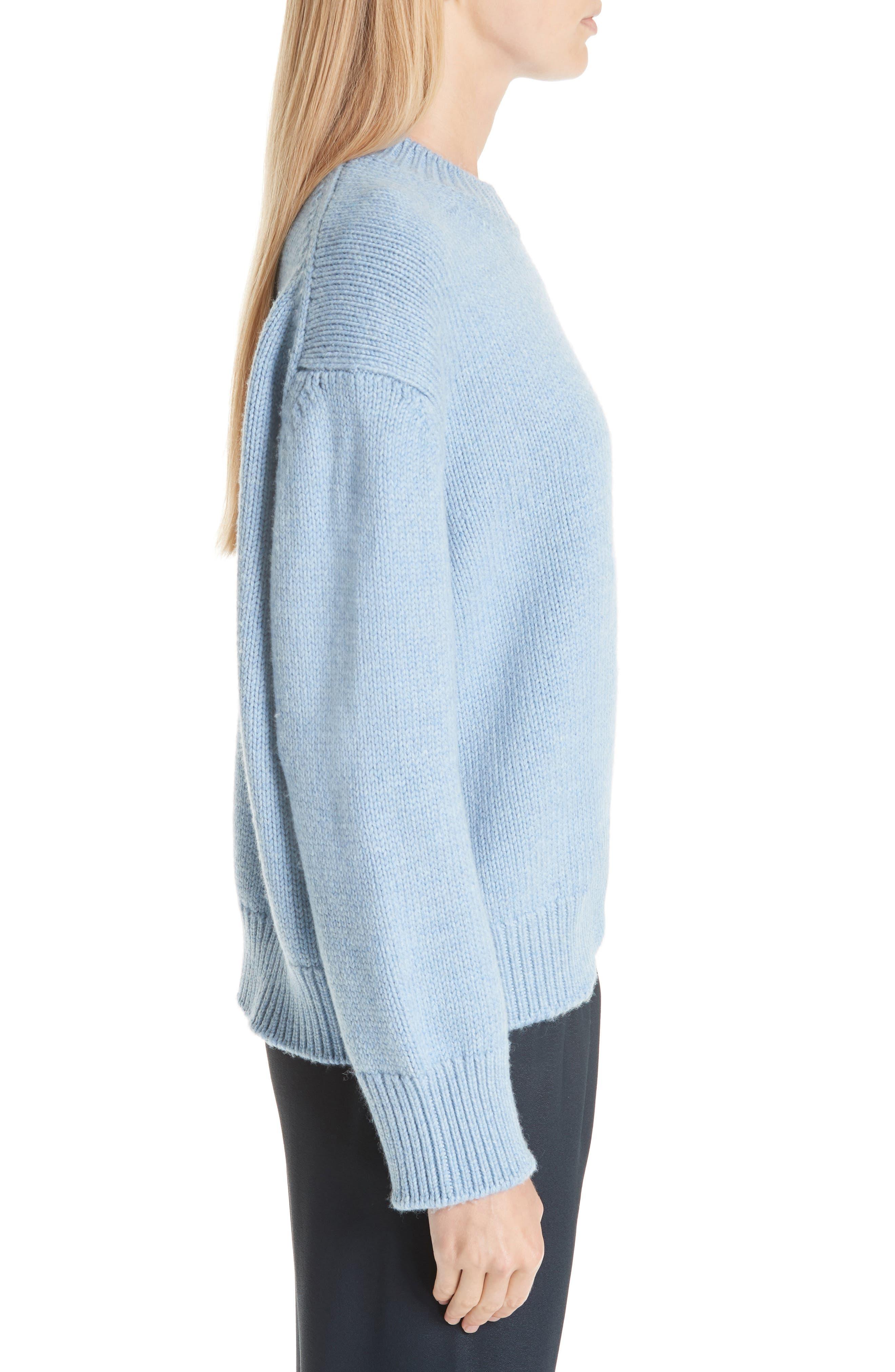 Merino Wool Sweater,                             Alternate thumbnail 3, color,                             SKY BLUE