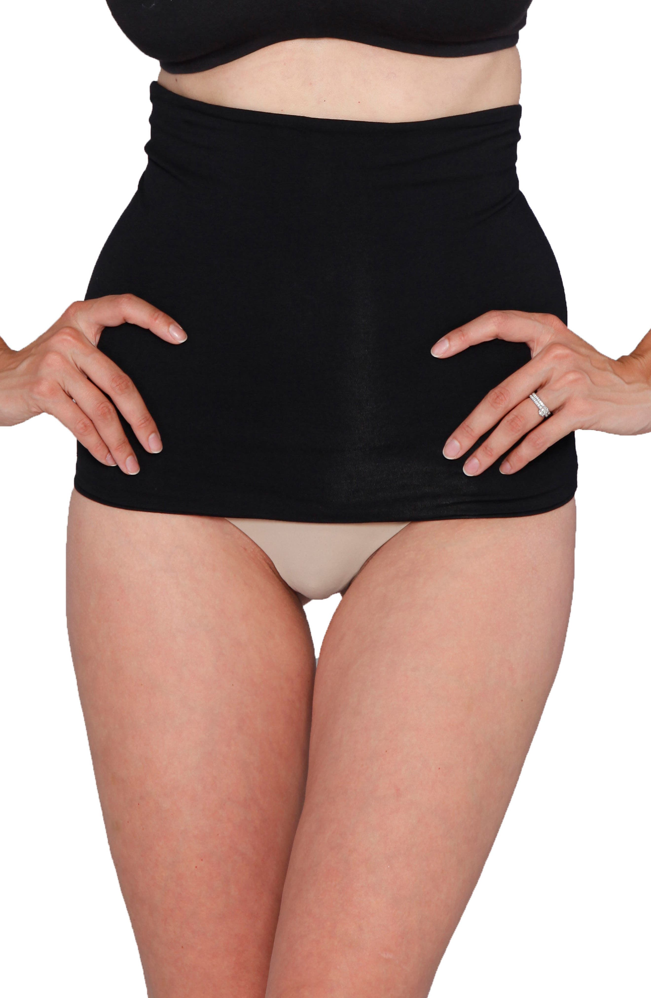 Tummy Tight Control Belly Band Postpartum Shapewear,                             Main thumbnail 1, color,                             BLACK