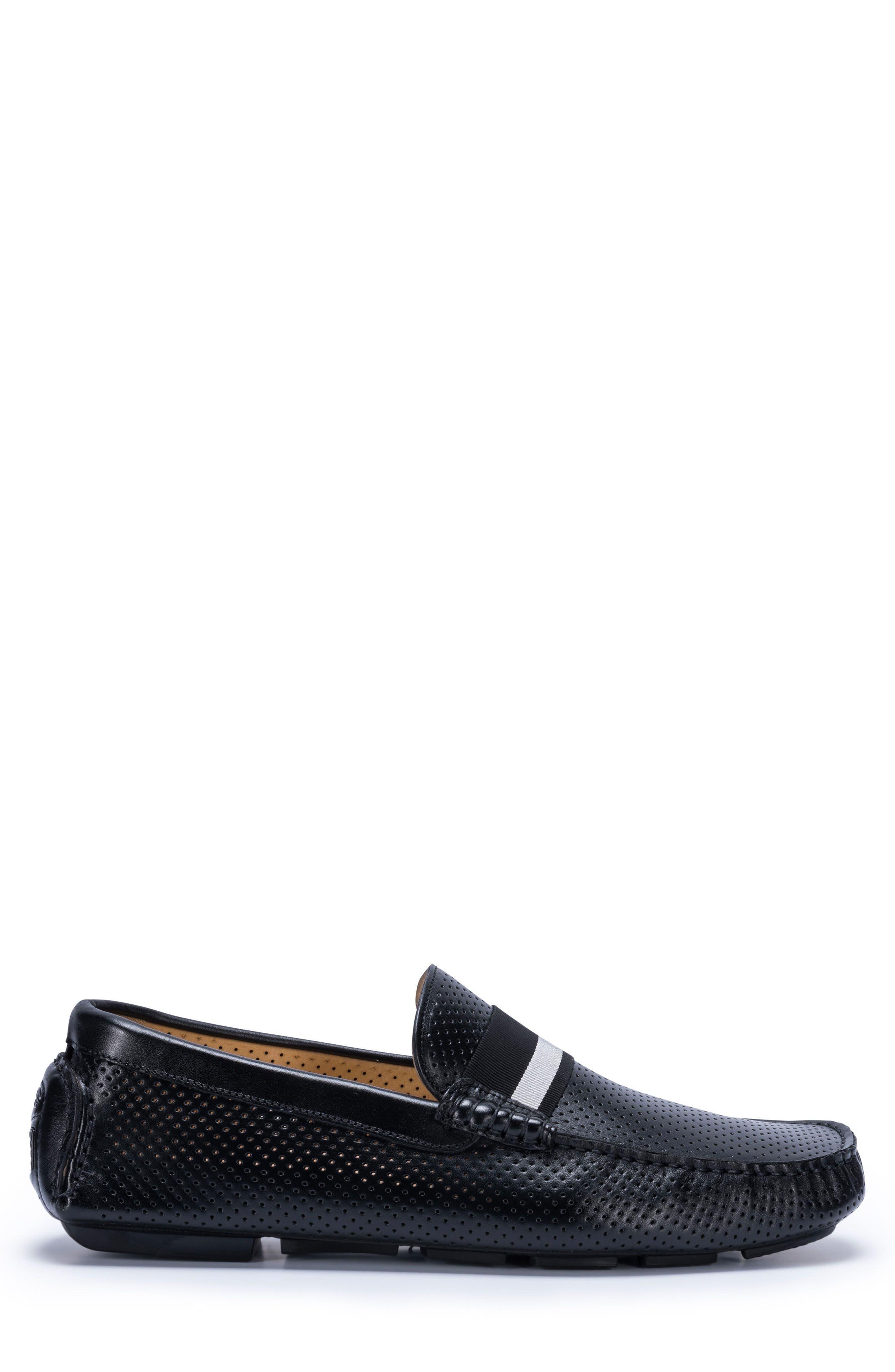 Sardegna Driving Shoe,                             Alternate thumbnail 3, color,                             BLACK