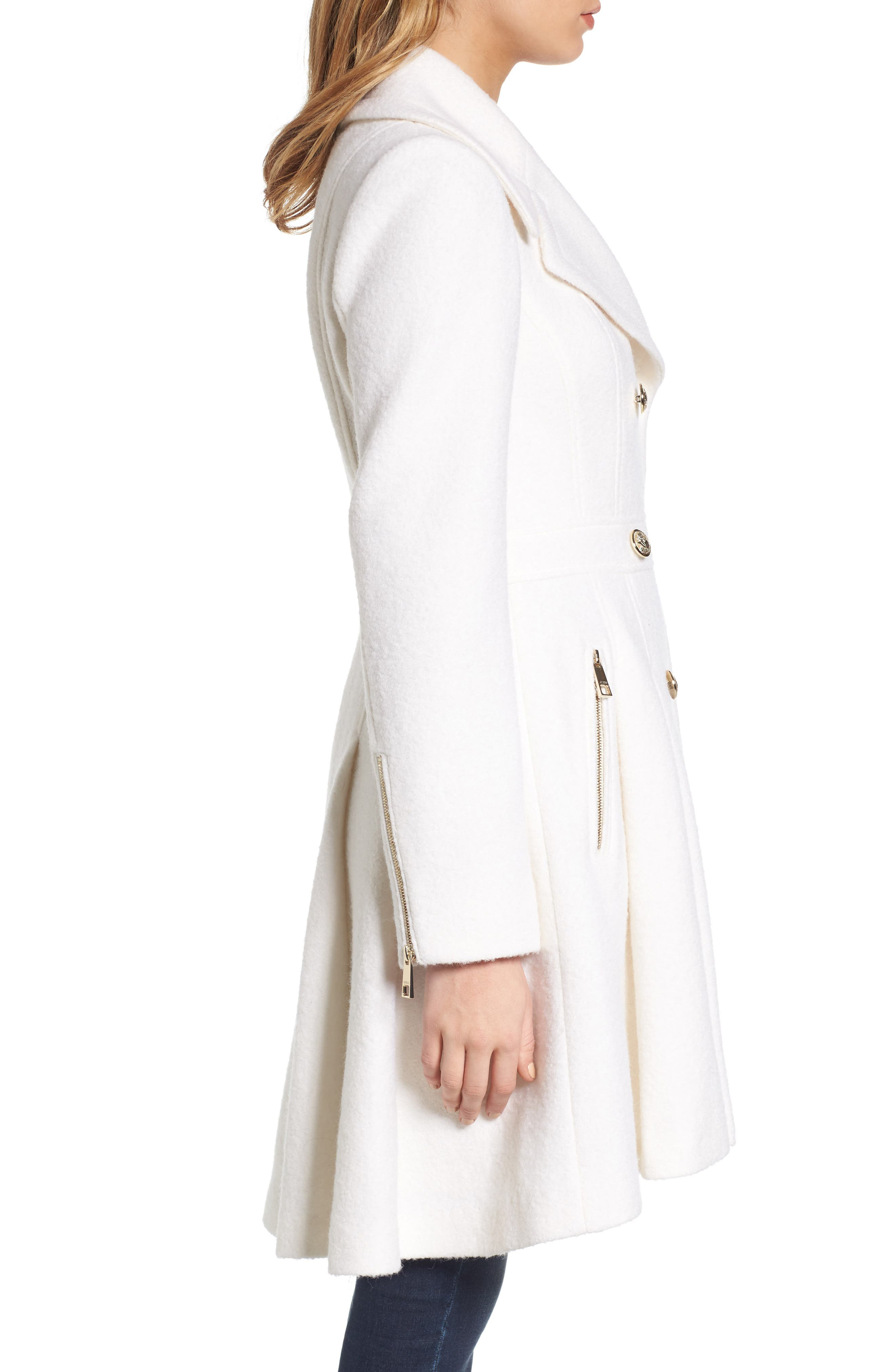Double Breasted Wool Blend Coat,                             Alternate thumbnail 8, color,