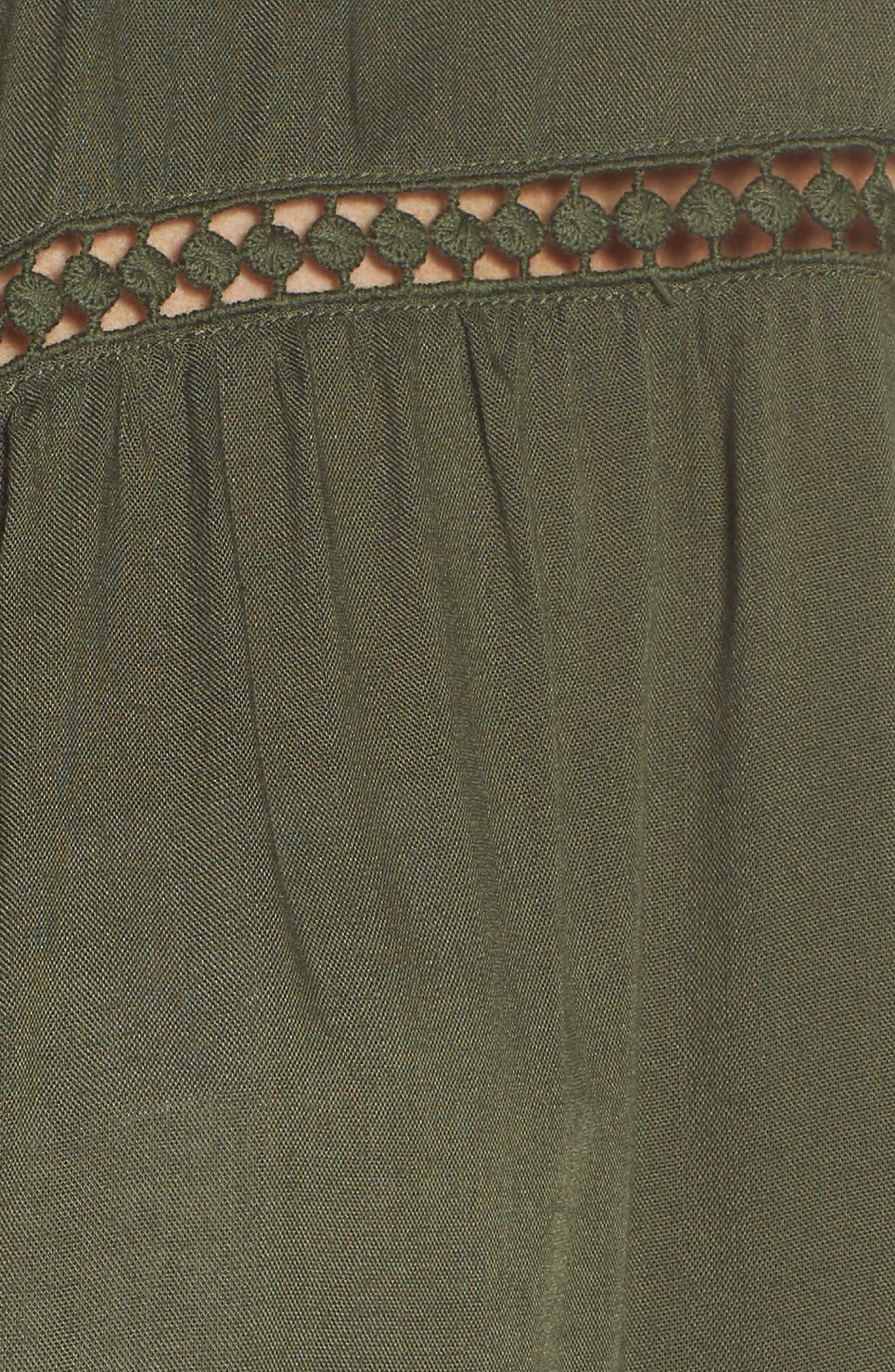 TOMMY BAHAMA,                             Crochet Boyfriend Shirt Cover-Up,                             Alternate thumbnail 6, color,                             DARK TEA LEAF