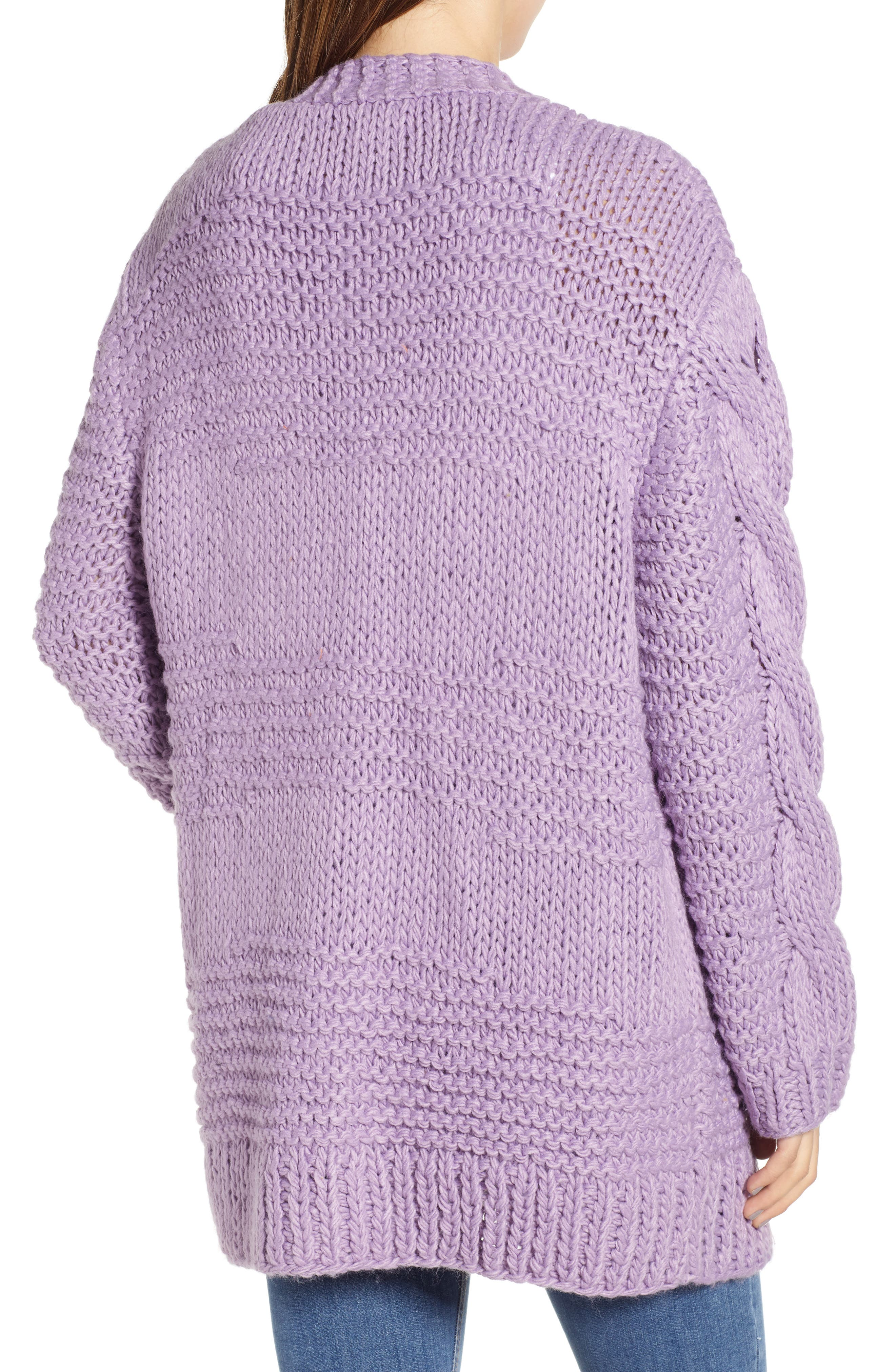 Cable Knit Oversized Cardigan,                             Alternate thumbnail 2, color,                             500