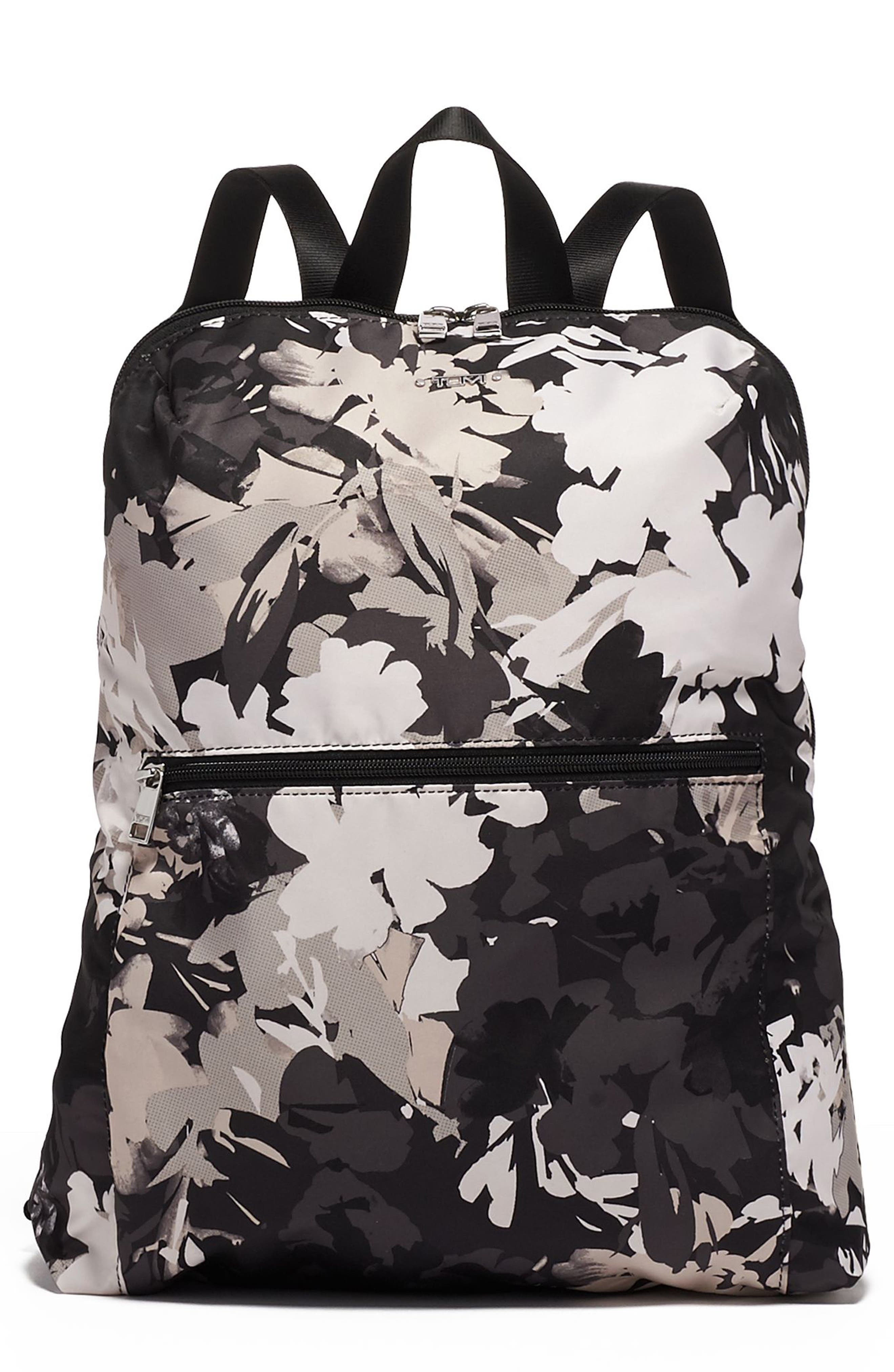 TUMI Voyageur - Just in Case<sup>®</sup> Nylon Travel Backpack, Main, color, AFRICAN FLORAL