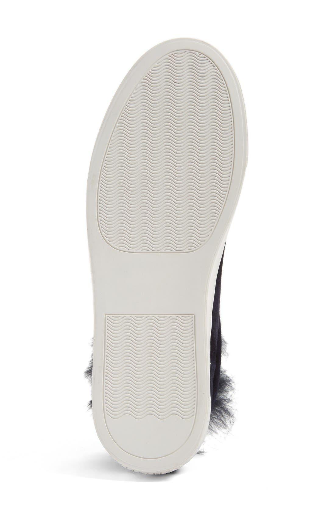 'Boe' Genuine Rabbit Fur & Shearling Lined Platform Sneaker,                             Alternate thumbnail 2, color,                             425