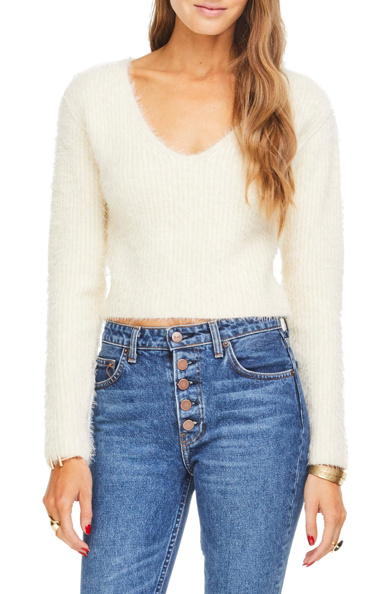 Astr The Label Krista Sweater, Ivory