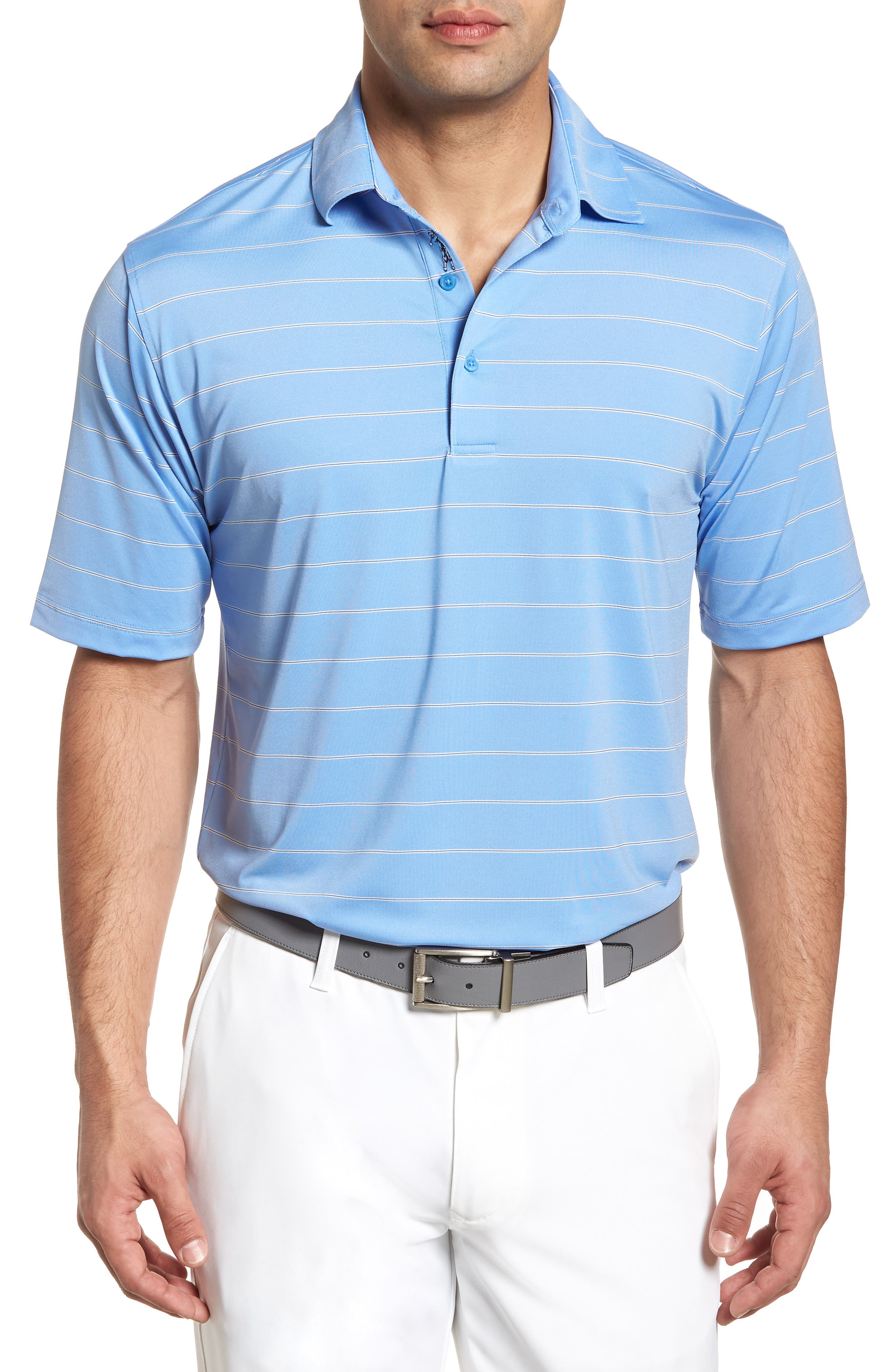 XH2O Momentum Stripe Jersey Polo,                             Main thumbnail 1, color,                             459