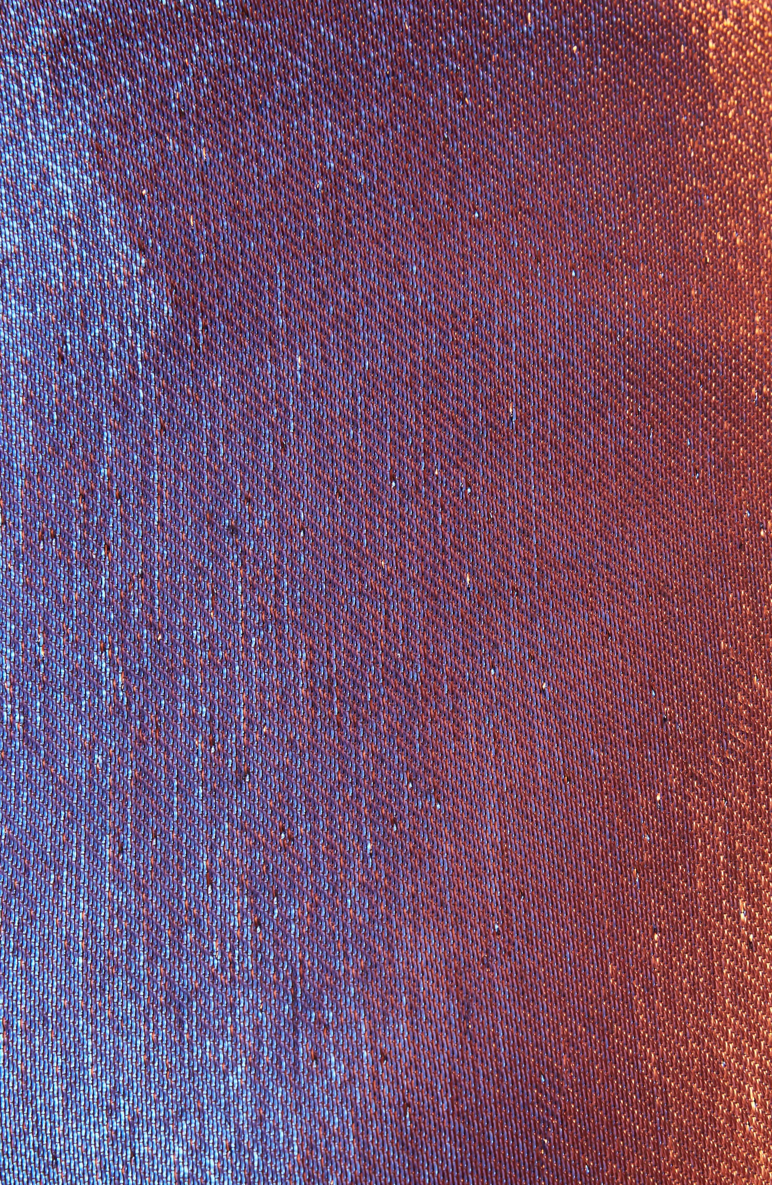 Two-Tone Lamé Crop Trousers,                             Alternate thumbnail 5, color,                             800