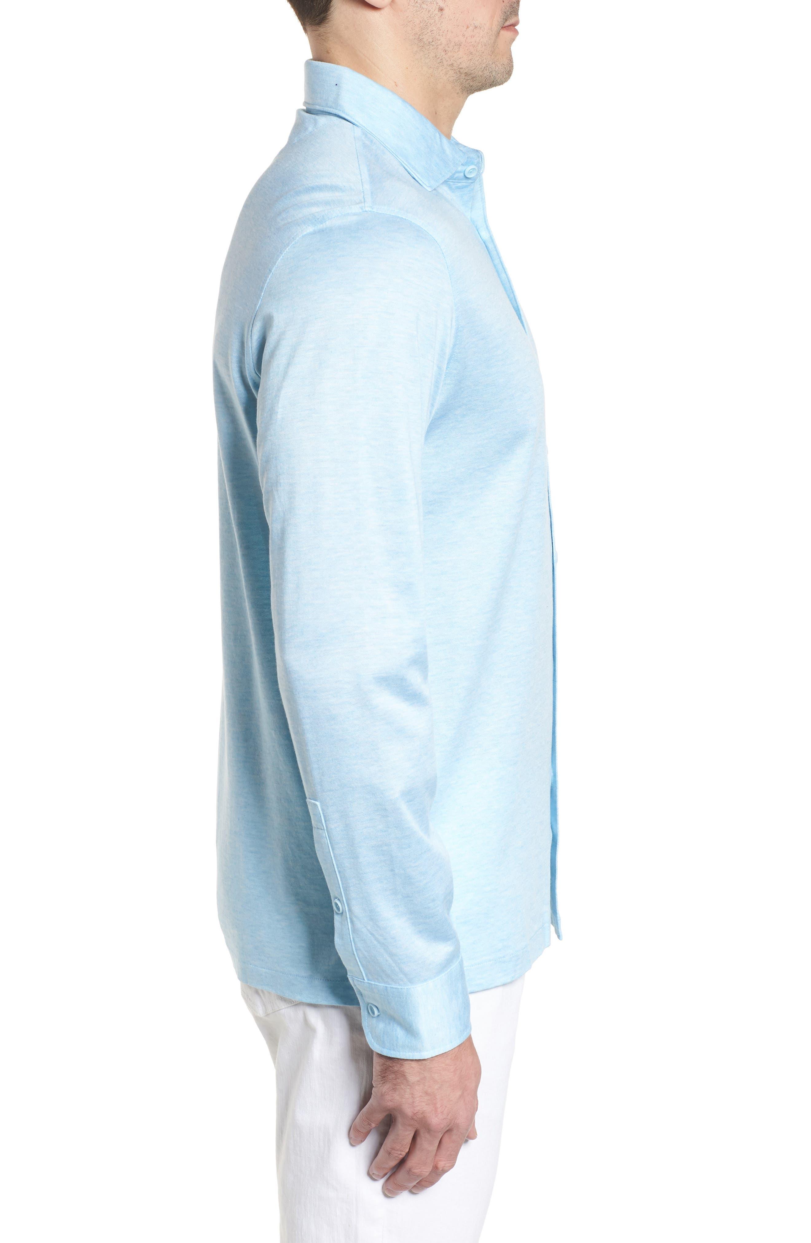 Regular Fit Silk Blend Sport Shirt,                             Alternate thumbnail 14, color,