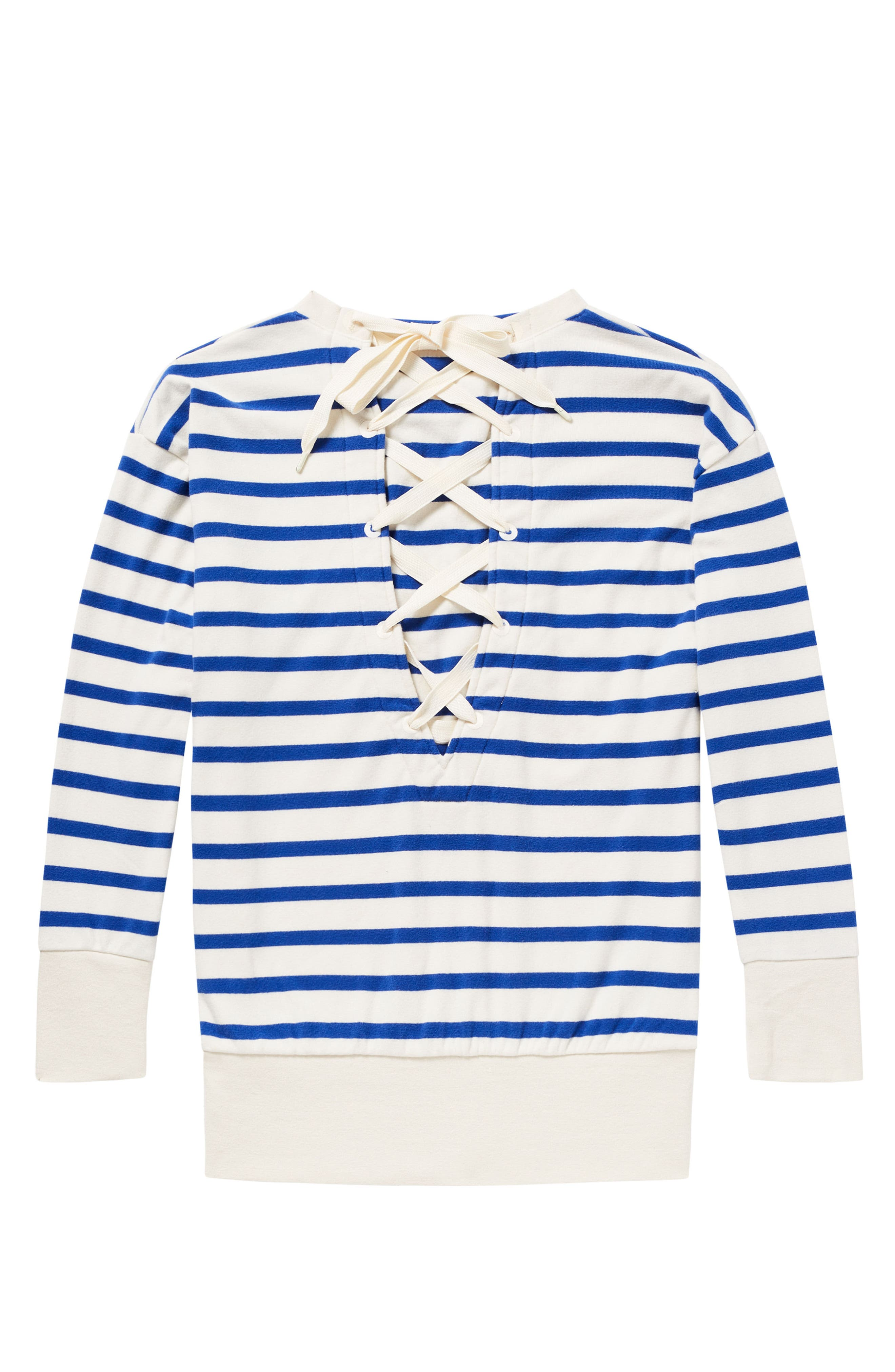 Laced Back Sweatshirt,                             Alternate thumbnail 5, color,                             401