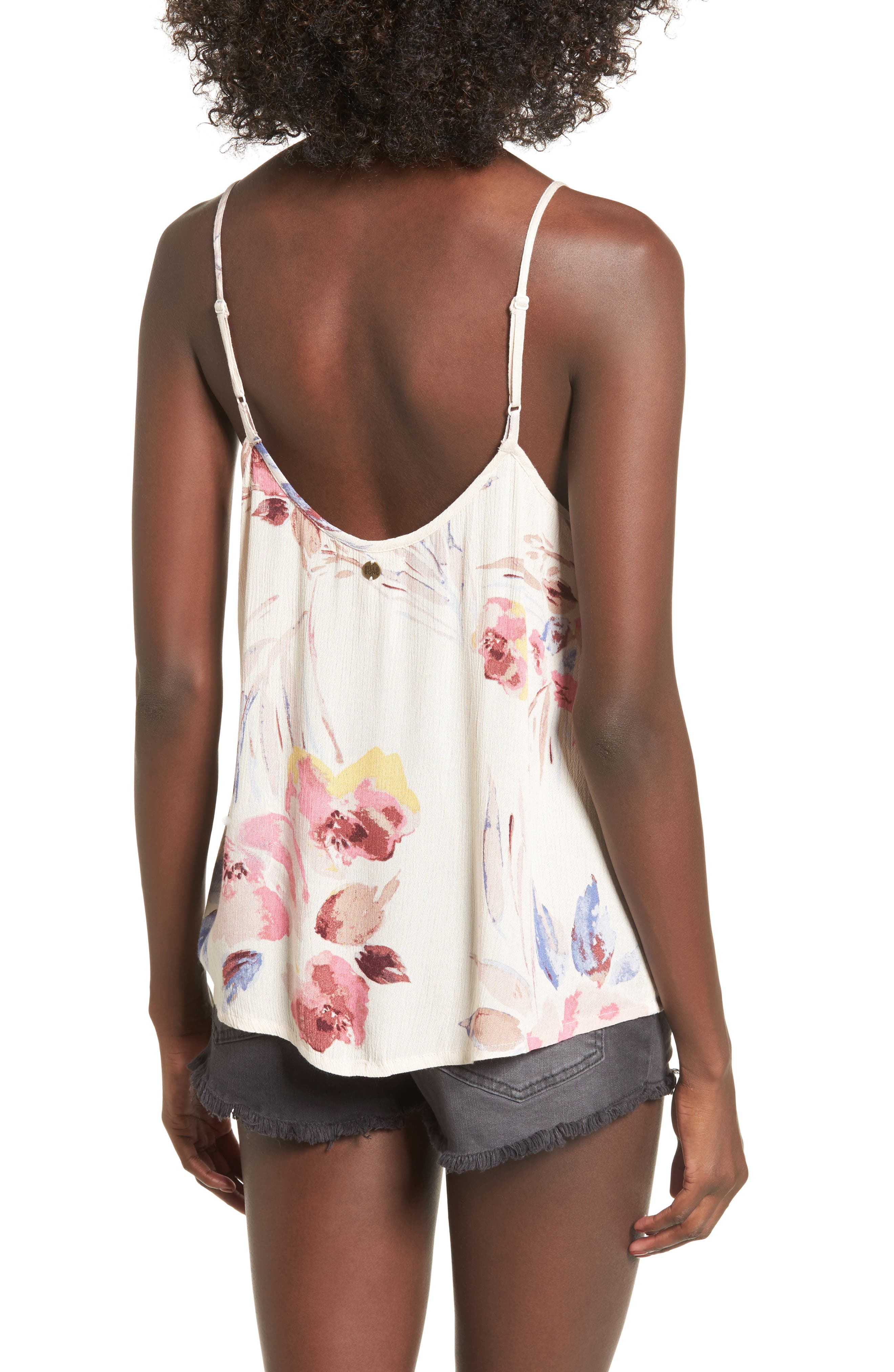 Illusions Of Floral Print Lace-Up Tank,                             Alternate thumbnail 2, color,                             900