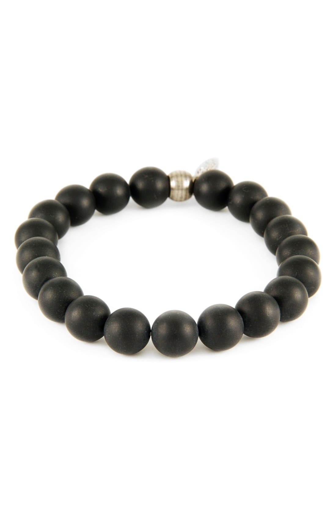Onyx Stretch Bracelet,                             Main thumbnail 1, color,                             001