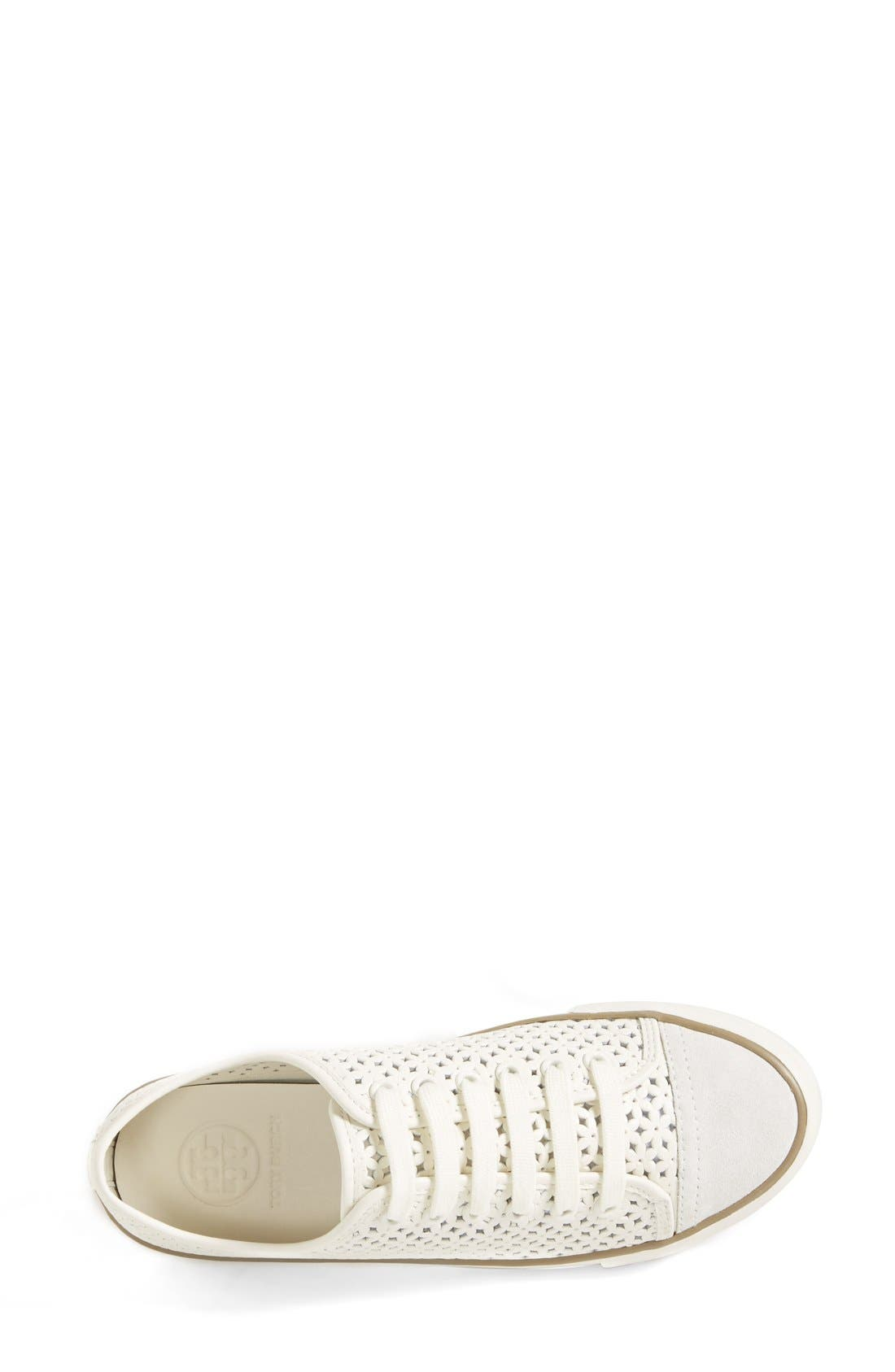 'Daisy' Perforated Sneaker,                             Alternate thumbnail 3, color,                             104