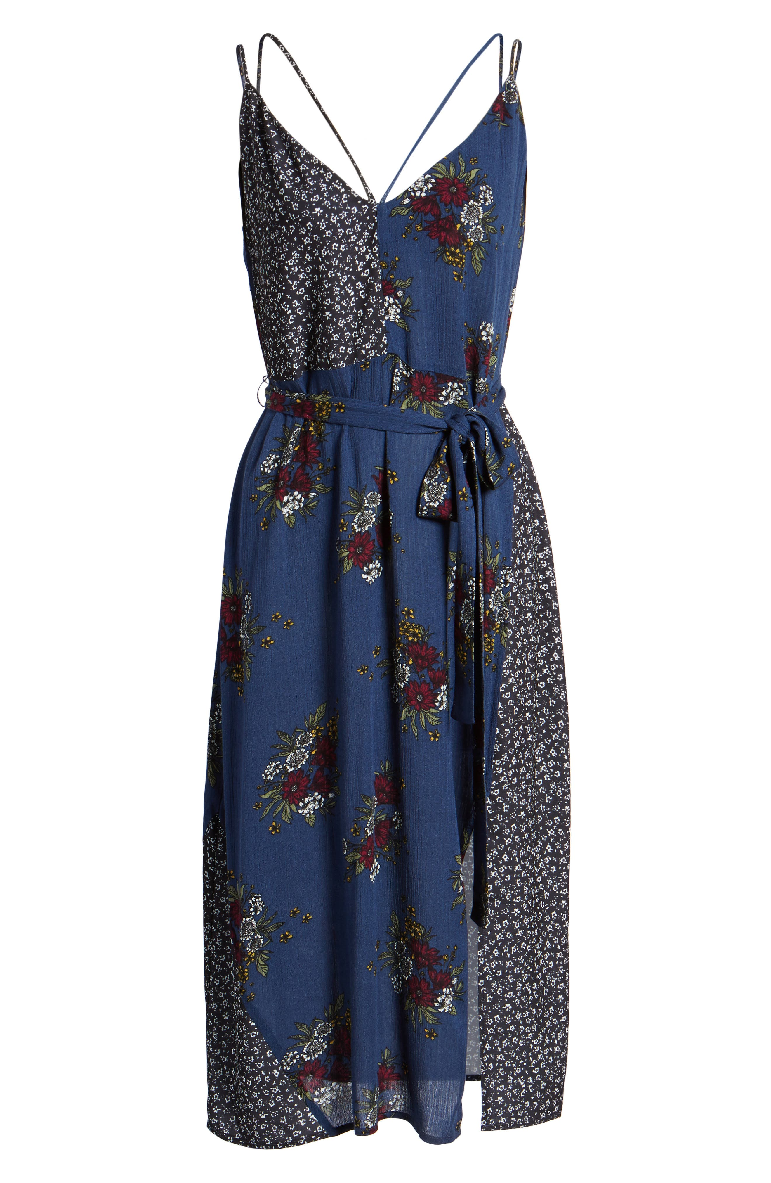 See Me Print Midi Dress,                             Alternate thumbnail 6, color,                             400
