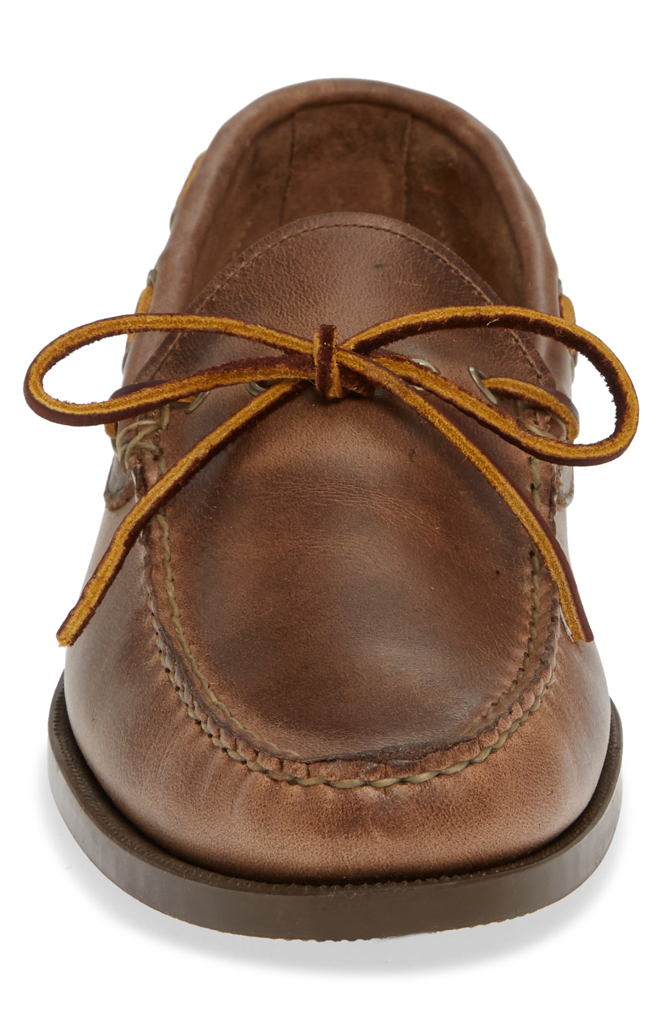 Camp Moccasin,                             Alternate thumbnail 4, color,                             NATURAL LEATHER