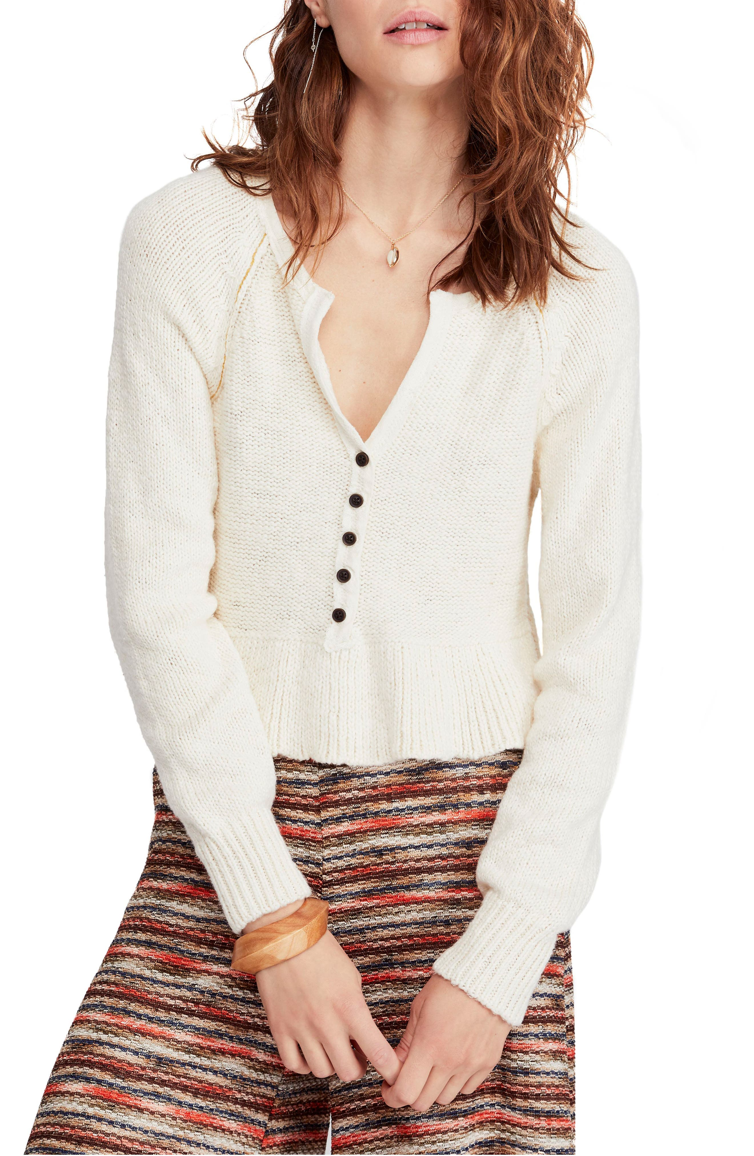 Sweetheart Sweater, Main, color, IVORY