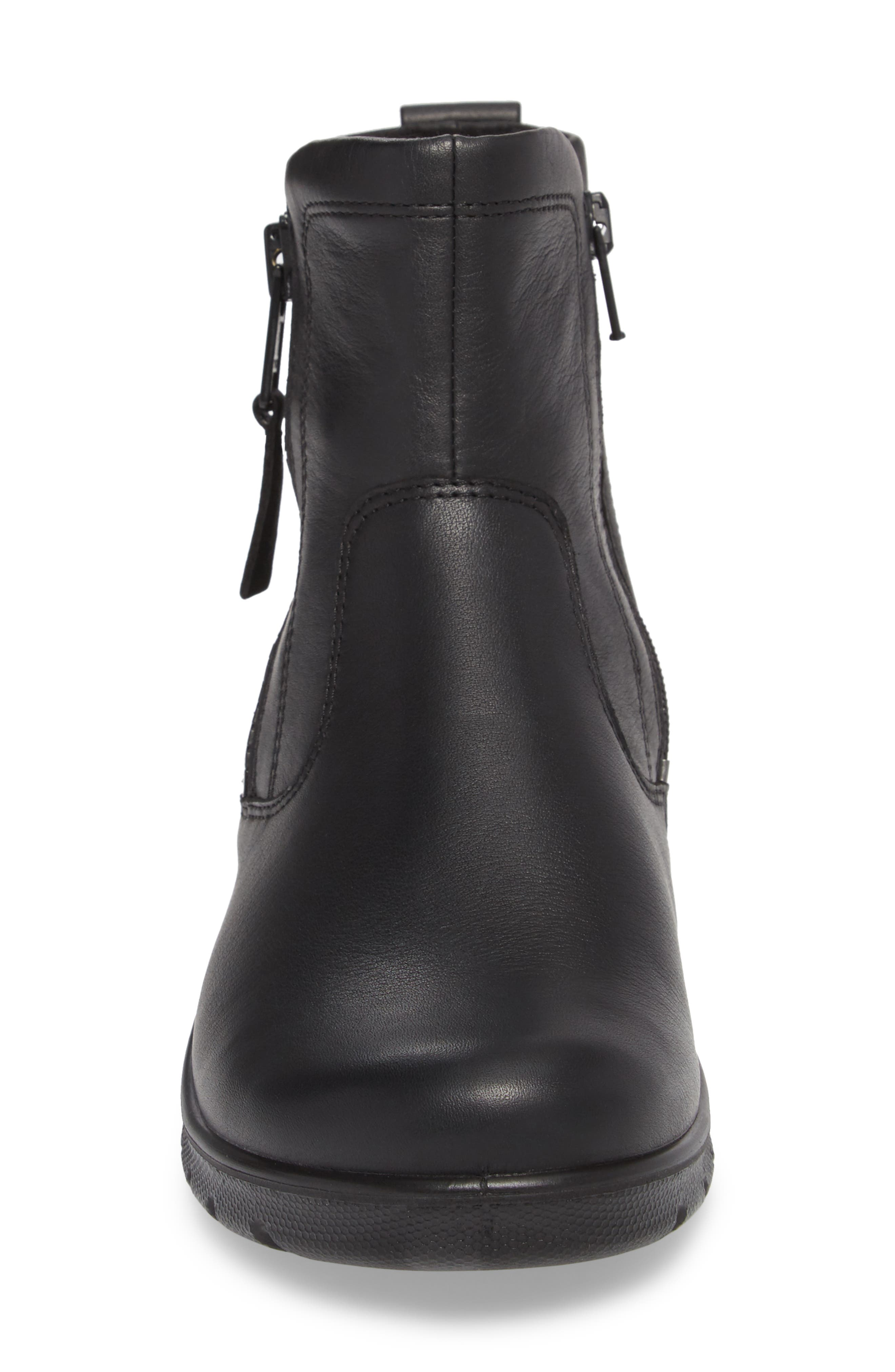 Babett Gore-Tex<sup>®</sup> Bootie,                             Alternate thumbnail 4, color,                             BLACK LEATHER