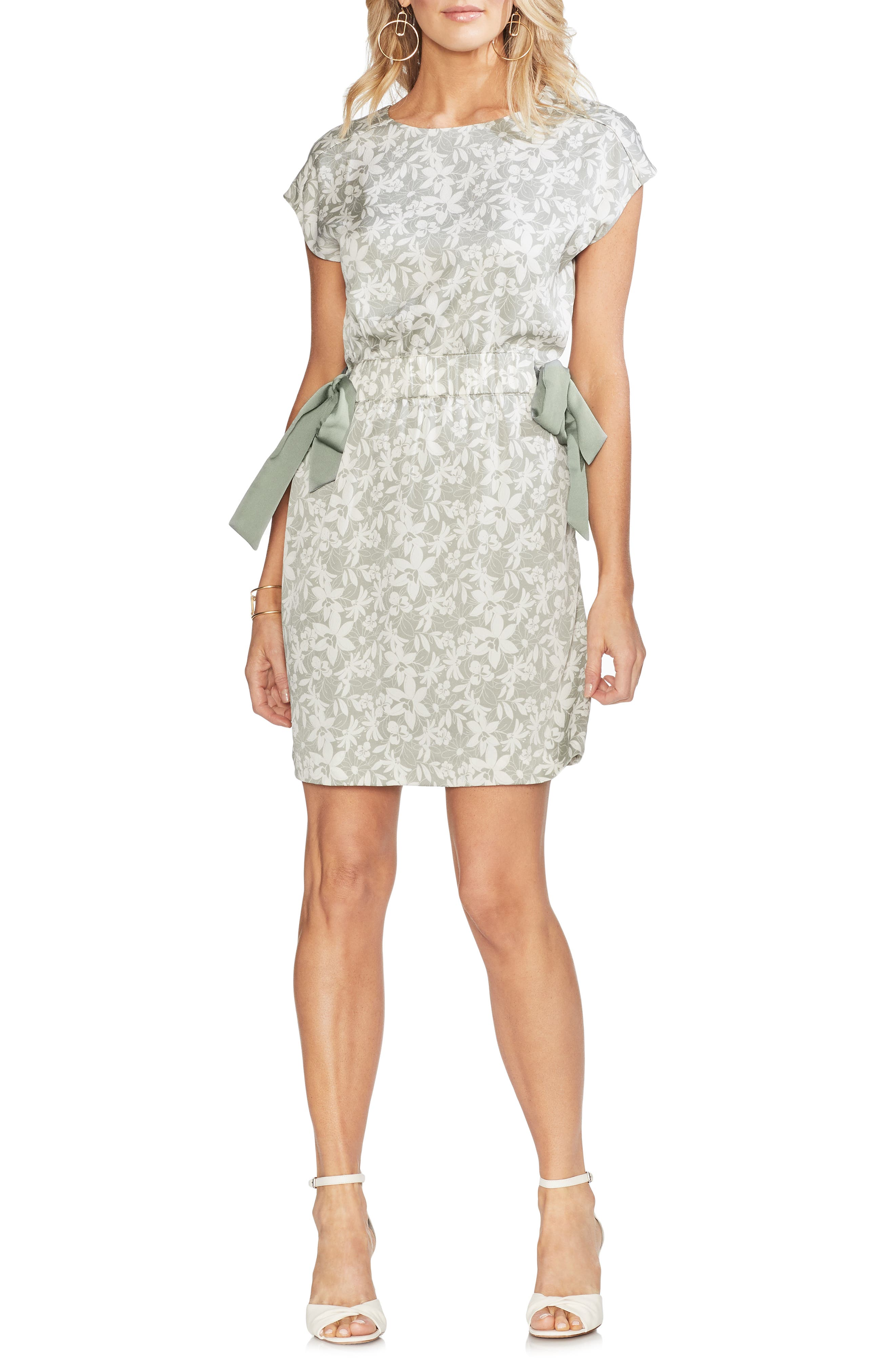 Vince Camuto Floral Side Tie Dress, Green