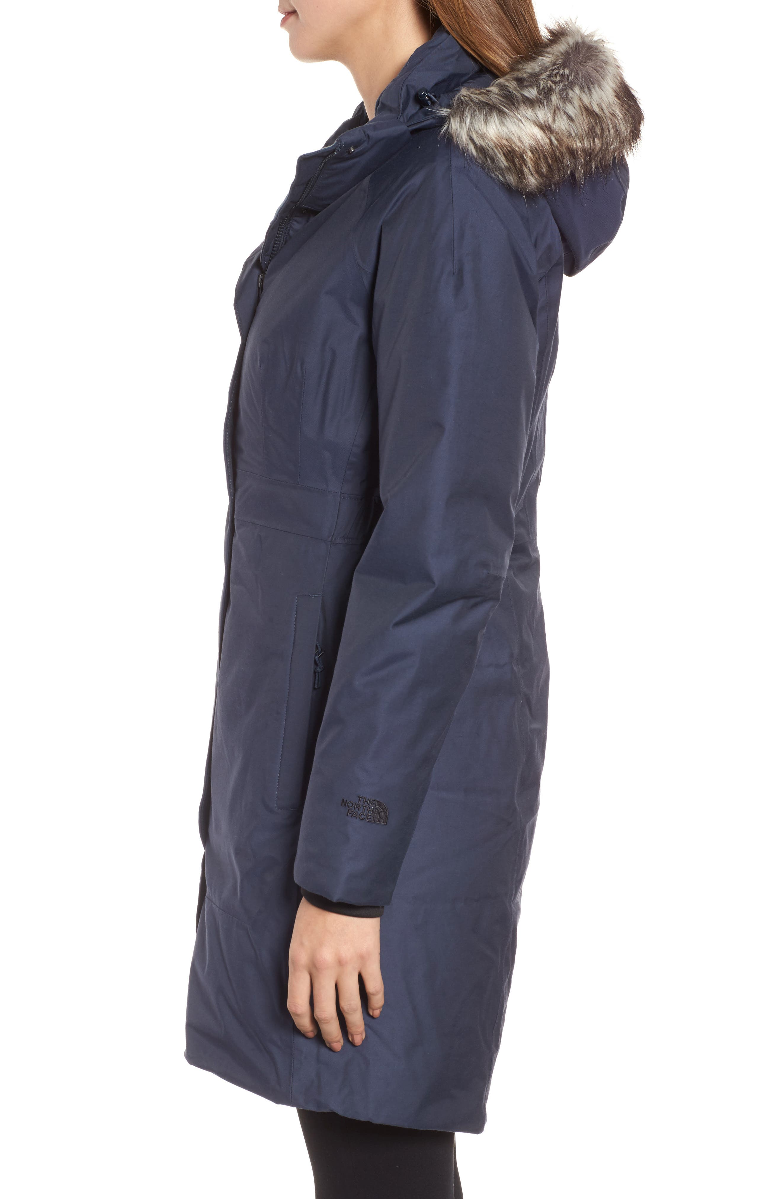 Arctic II Waterproof 550-Fill-Power Down Parka with Faux Fur Trim,                             Alternate thumbnail 13, color,